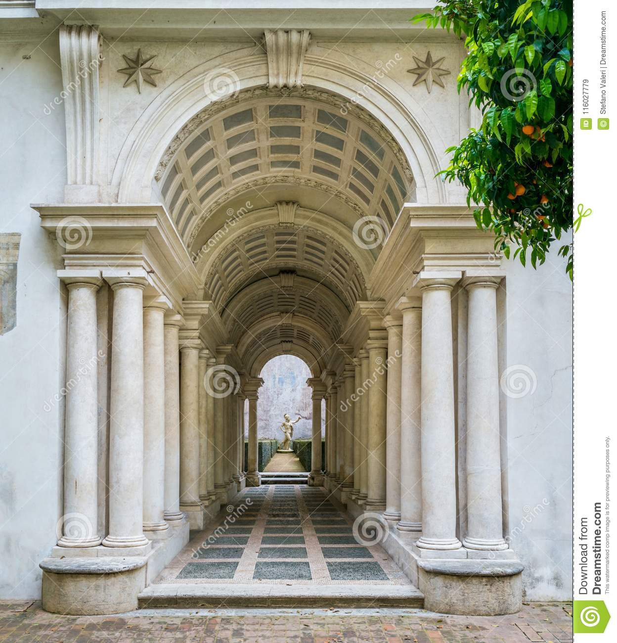 Rome Galeria: The Forced Perspective Gallery By Francesco Borromini In