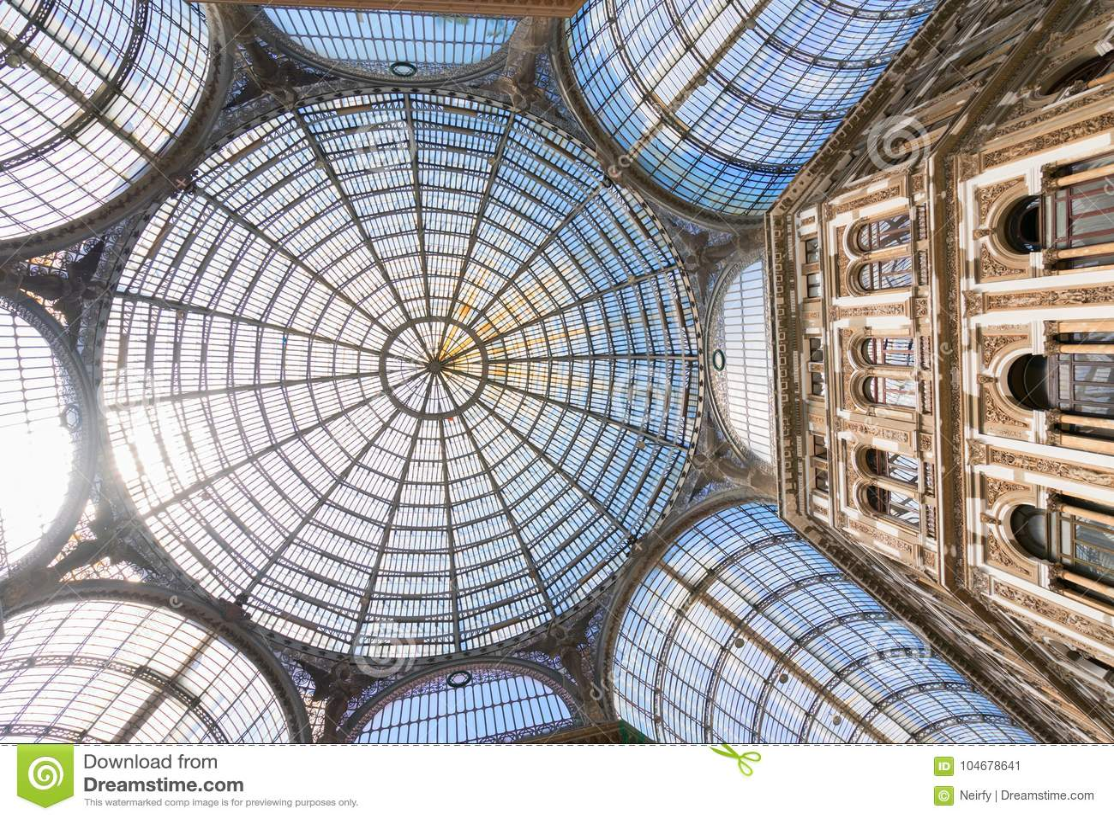 Galleria Umberto I, public shopping gallery in Naples.