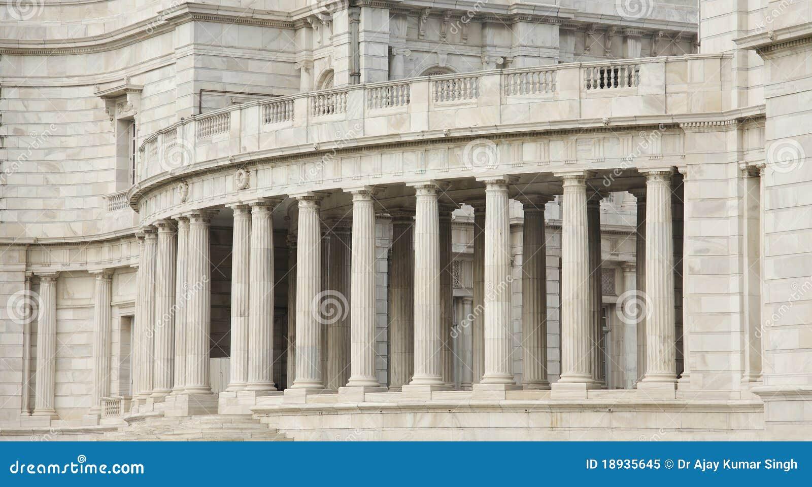 Gallery With Beautiful Pillars Victoria Memorial Royalty