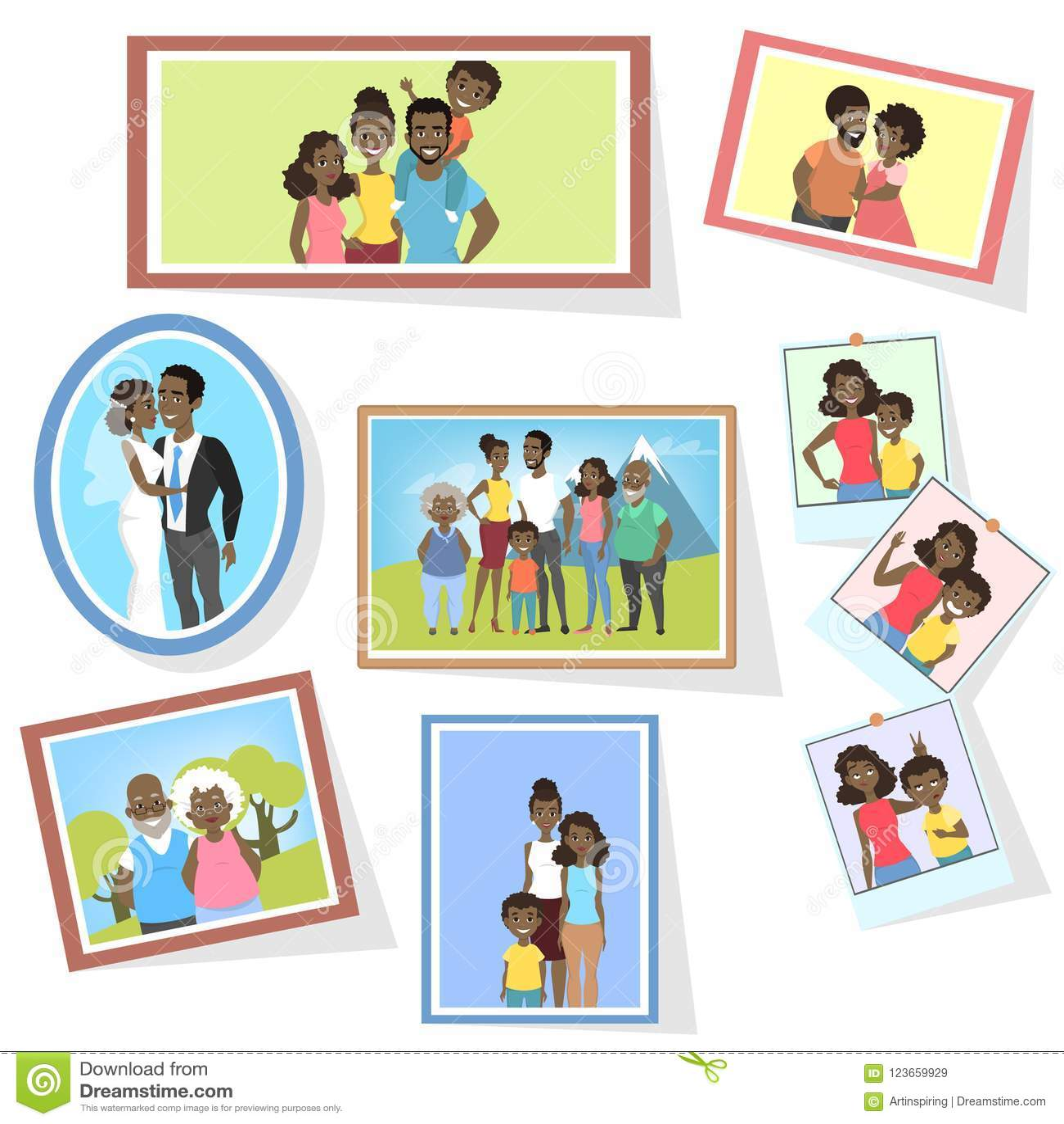 Gallery Of Family Photos Stock Vector Illustration Of Grandchildren