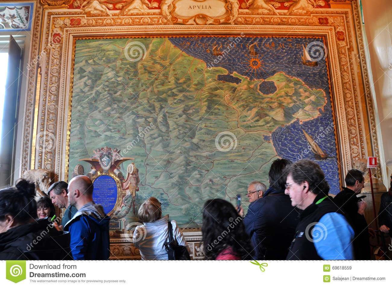 Gallery Of Maps Vatican City Italy Editorial