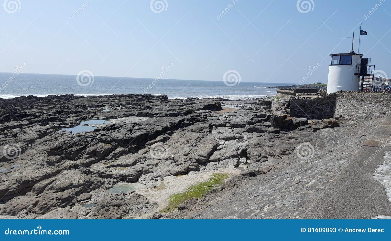 Galles del sud della linea costiera di Porthcawl