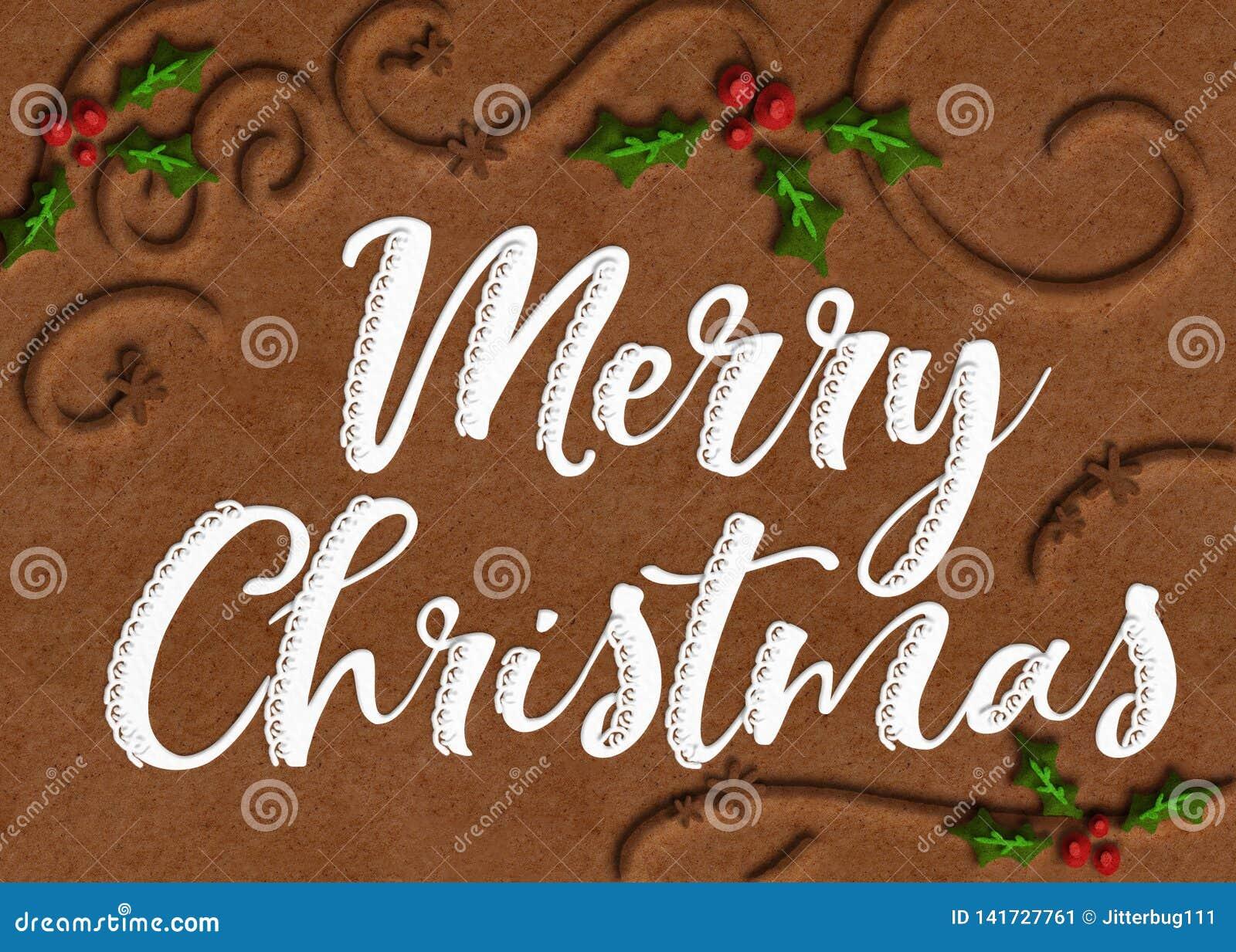 Galleta Art Merry Christmas Graphic