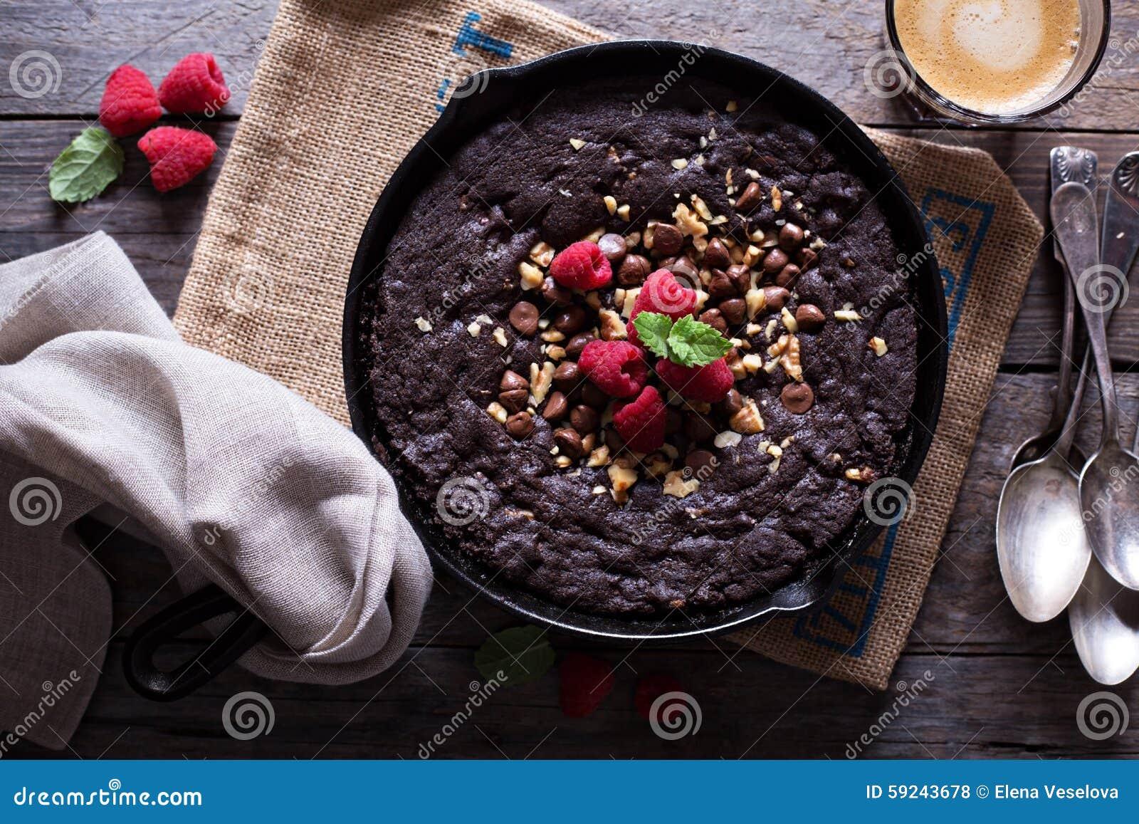Download Galleta De La Sartén Del Chocolate Foto de archivo - Imagen de fresco, mantequilla: 59243678
