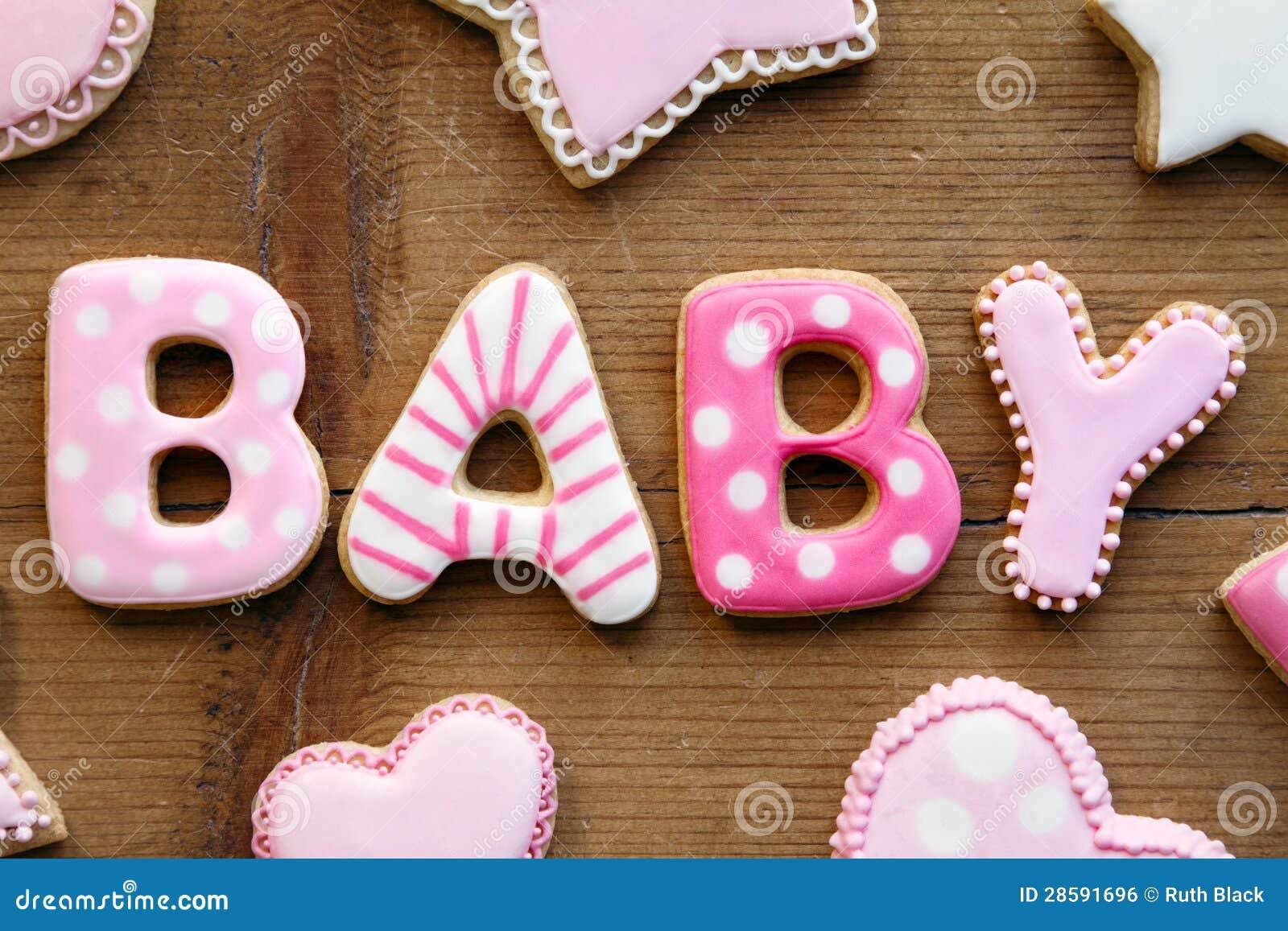 Galletas de la fiesta de bienvenida al bebé