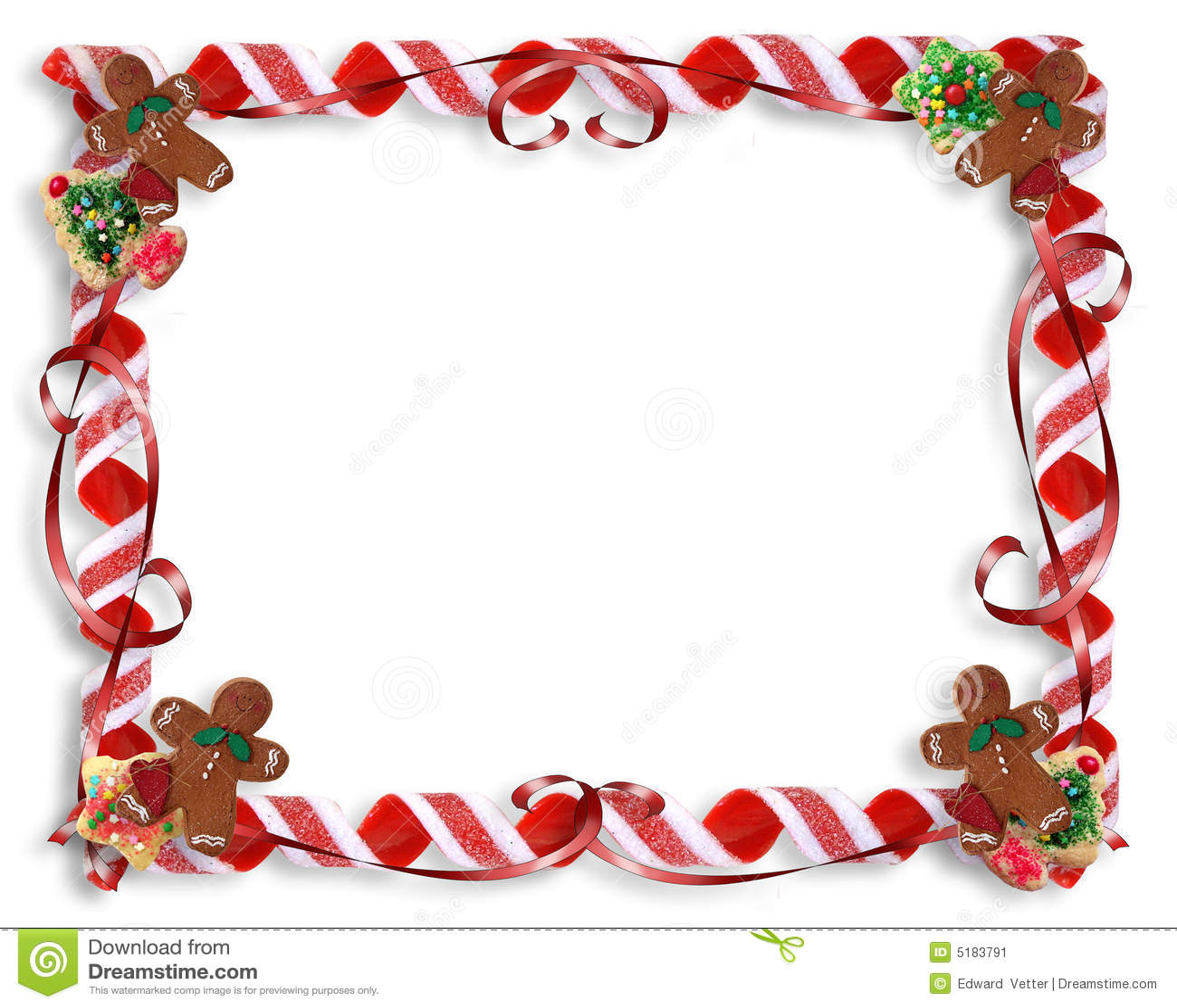 Galletas De La Navidad Y Marco Del Caramelo Stock de ilustración ...