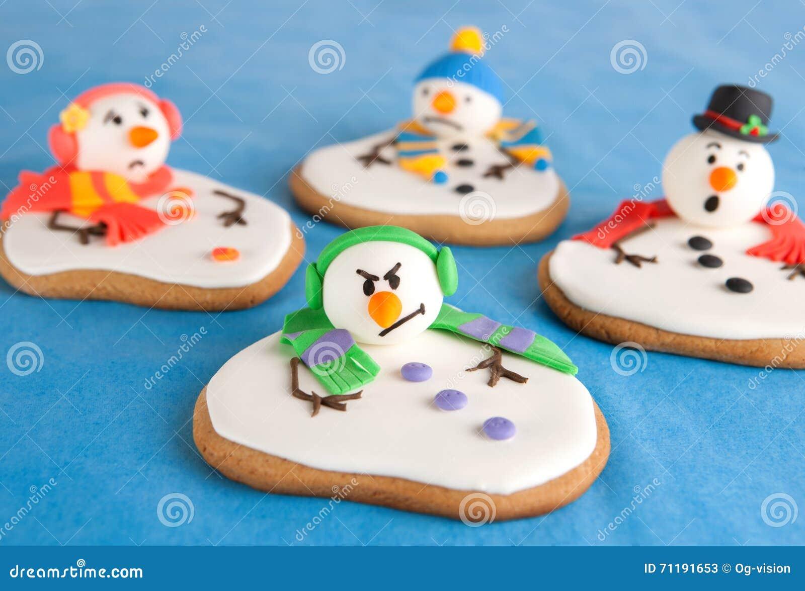 Galletas derretidas del muñeco de nieve