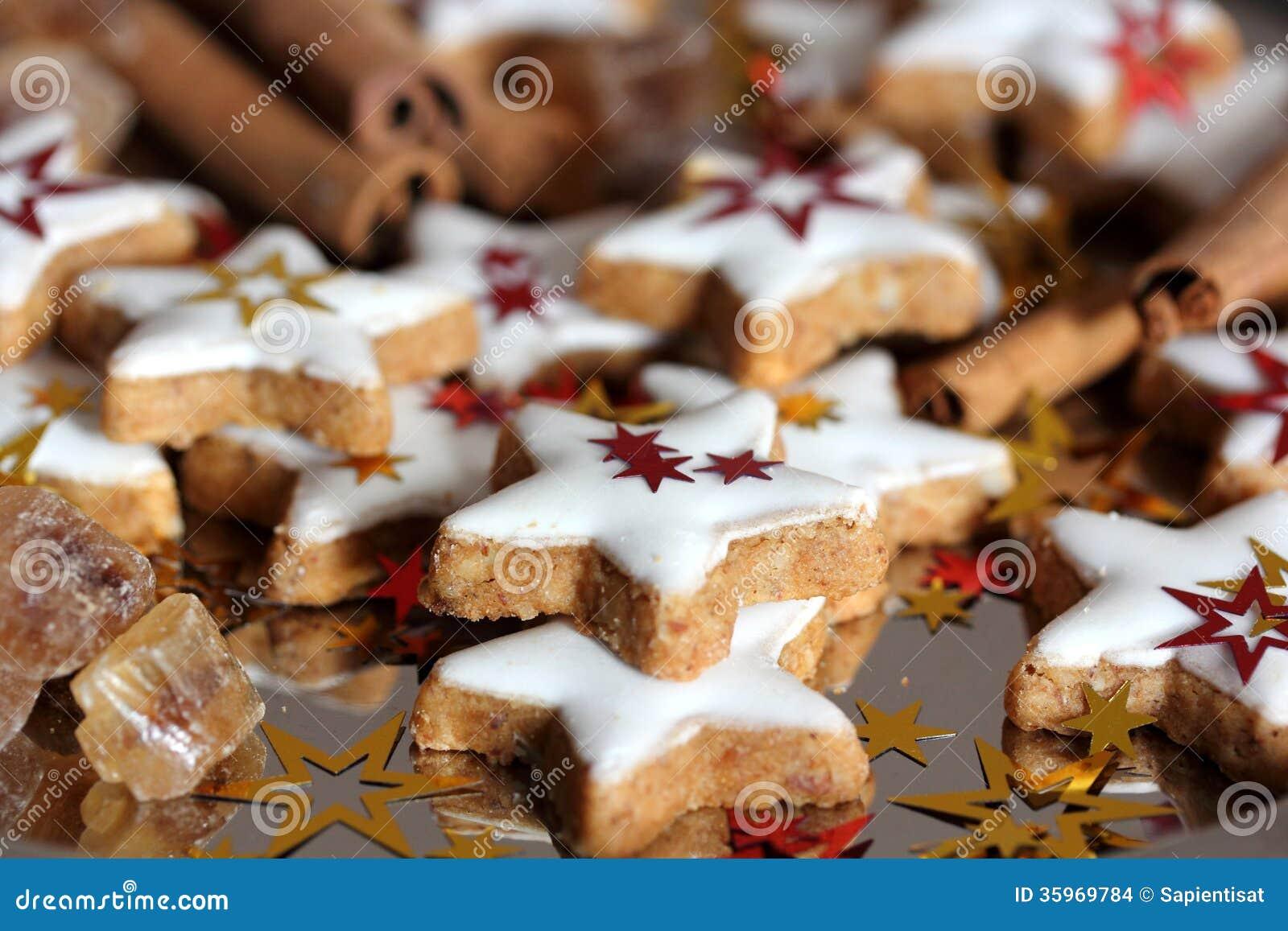 Galletas tradicionales del dulce de la Navidad