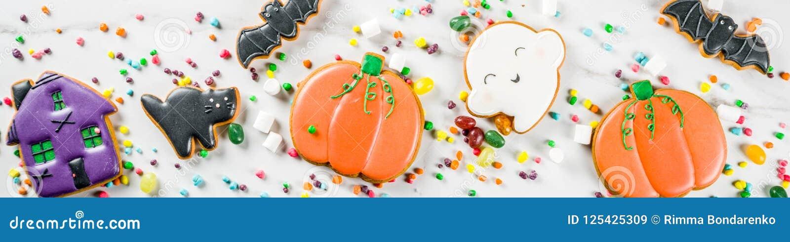 Galletas y caramelos de Halloween