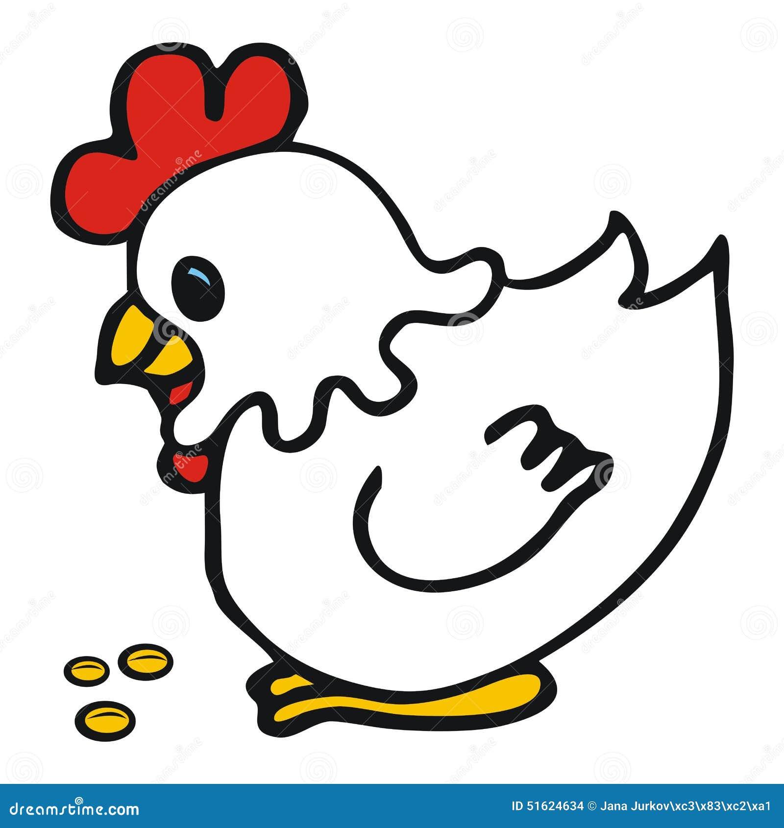 Gallina Blanca Ilustración Del Vector Ilustración De Alimento