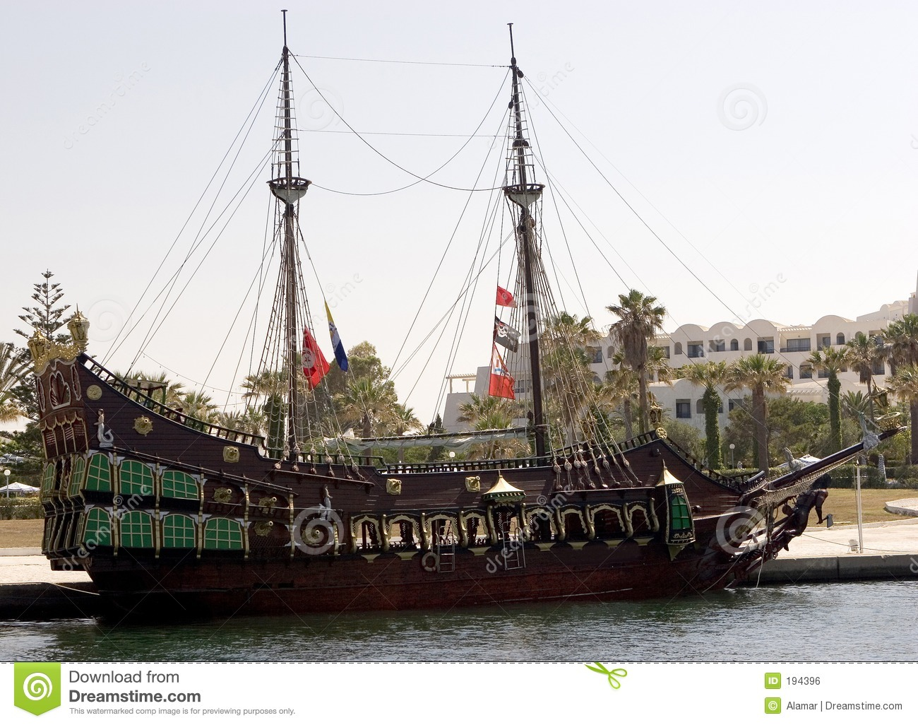 Download Gallion stock photo. Image of gallion, galley, pirate, historical - 194396