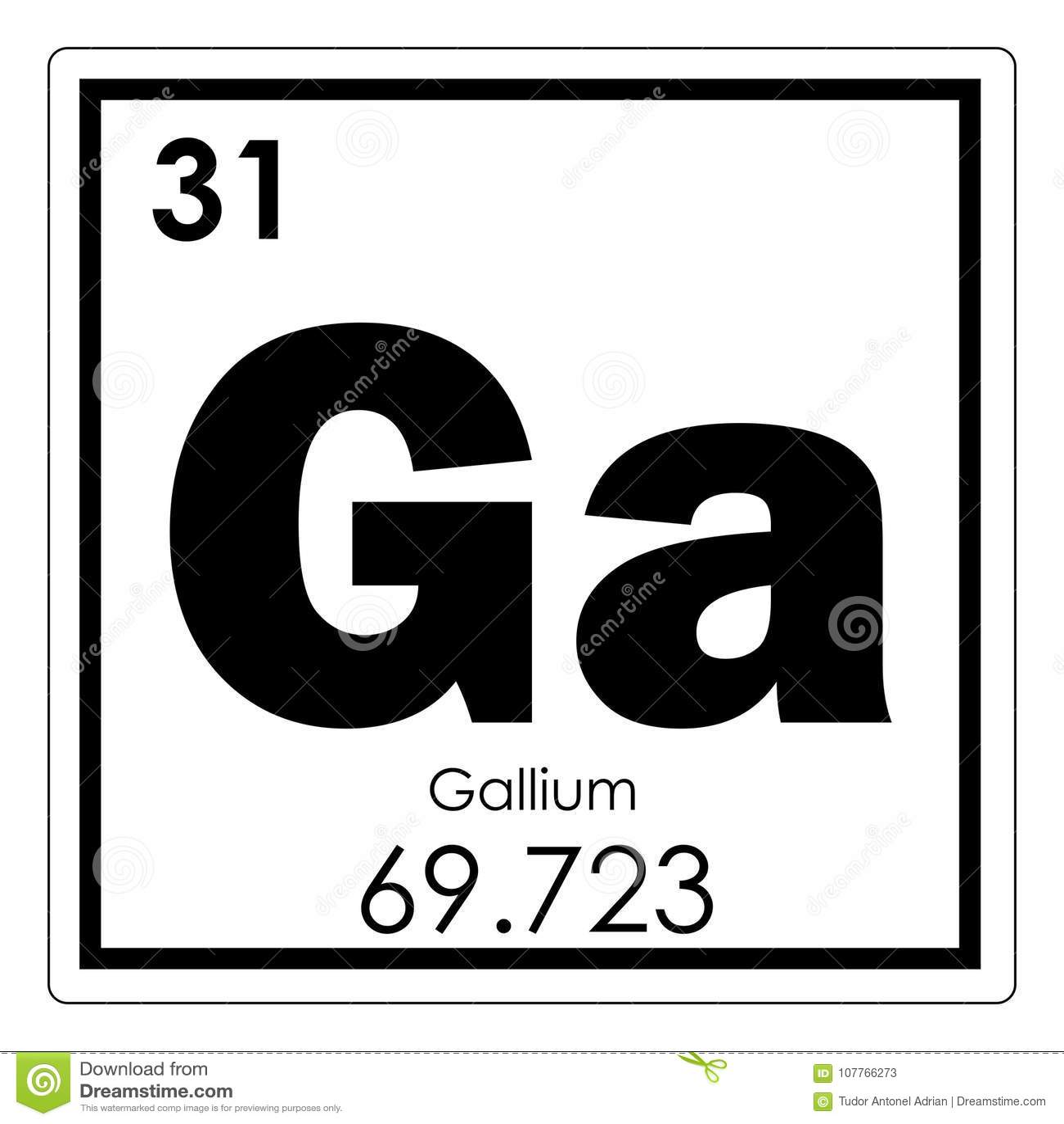 Gallium chemical element stock illustration illustration of download comp urtaz Image collections