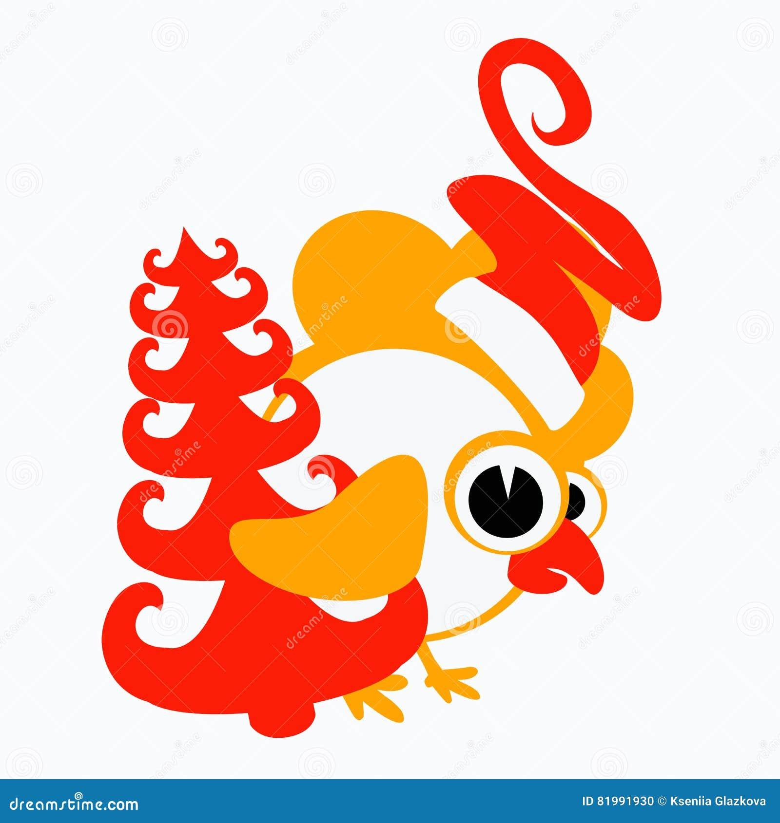 Calendario Cinese 1993.Gallo Galletto Pollo Un Simbolo 2017 Di Logo Sul