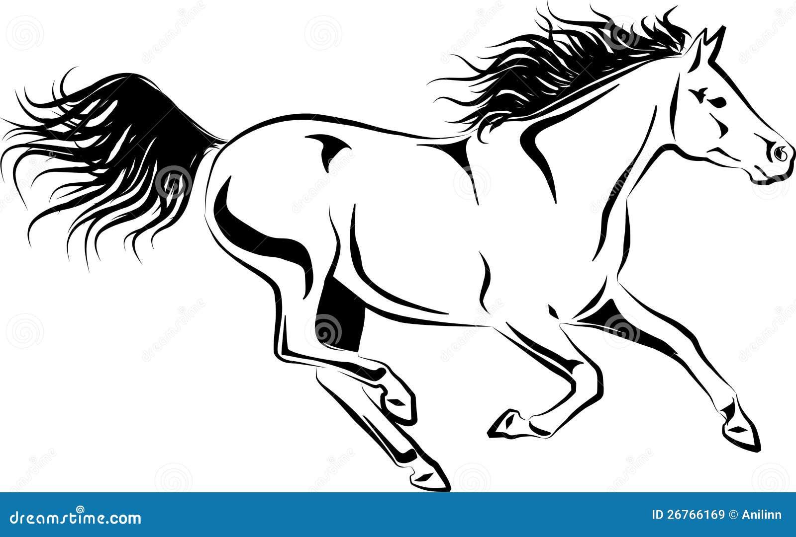 galoppierendes pferd vektor abbildung illustration von