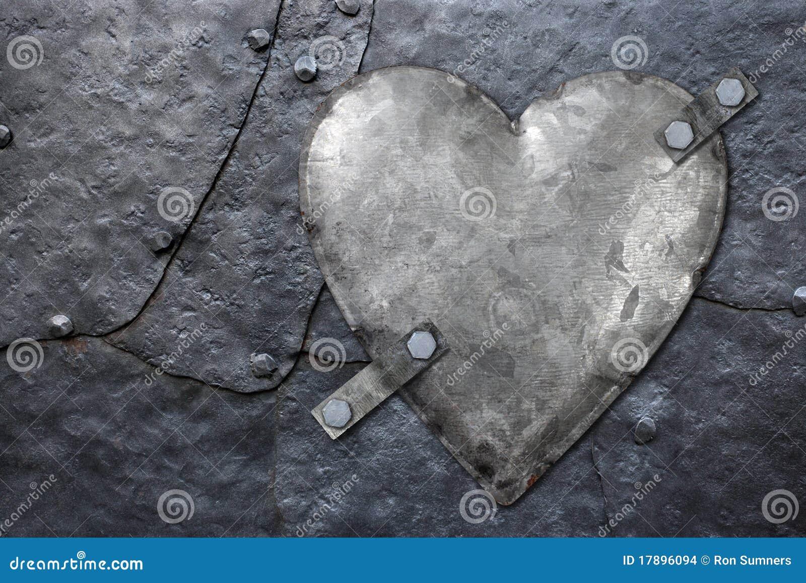 Galvanized metal heart