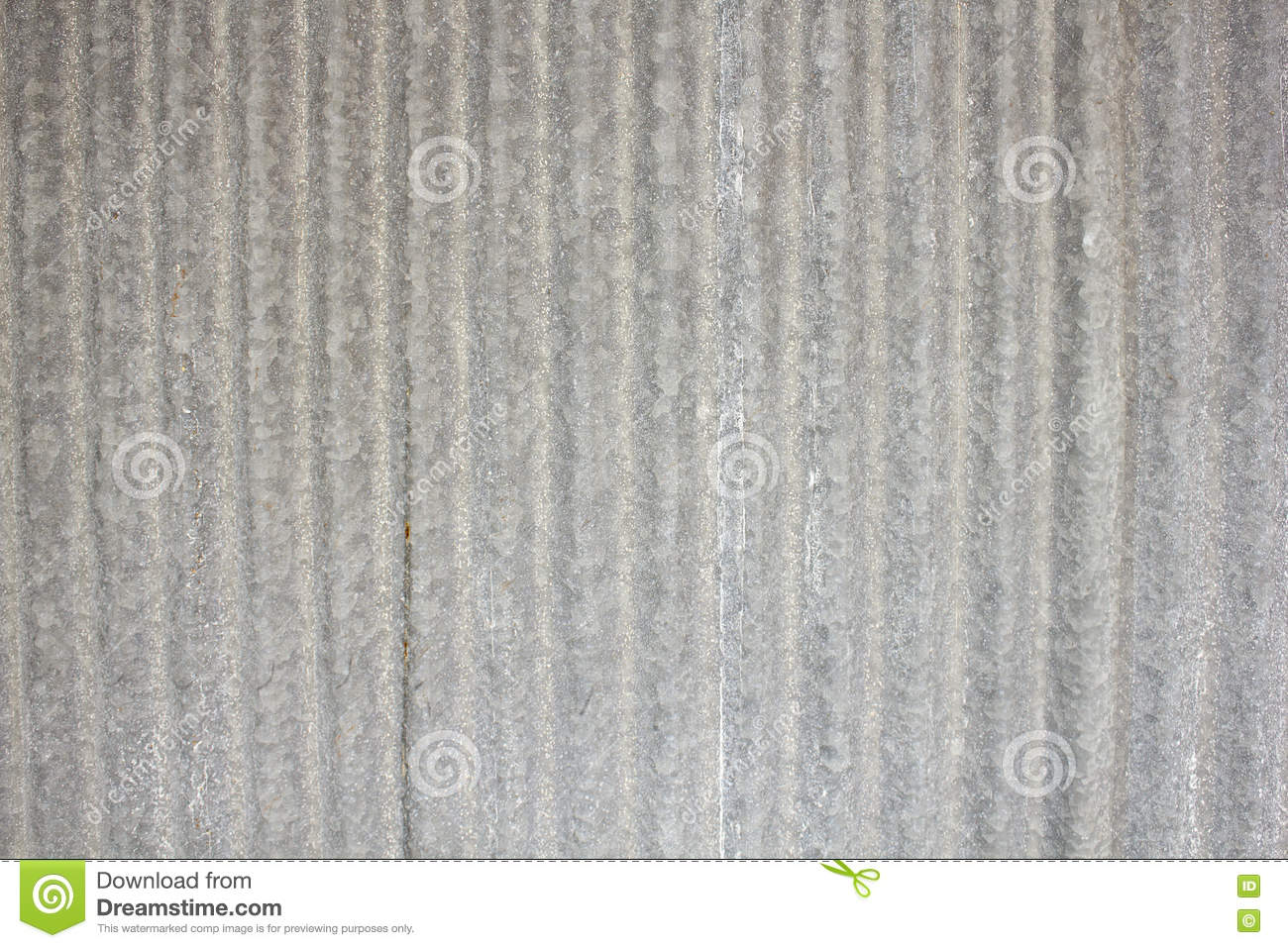 Galvanized Sheet Used As Door Wall At Old Town Stock Photo Image