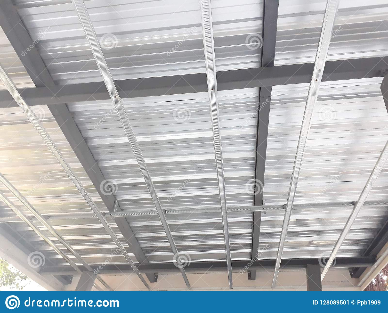 Galvanized Steel Roofing Sheet Stock Image Image Of Design Building 128089501