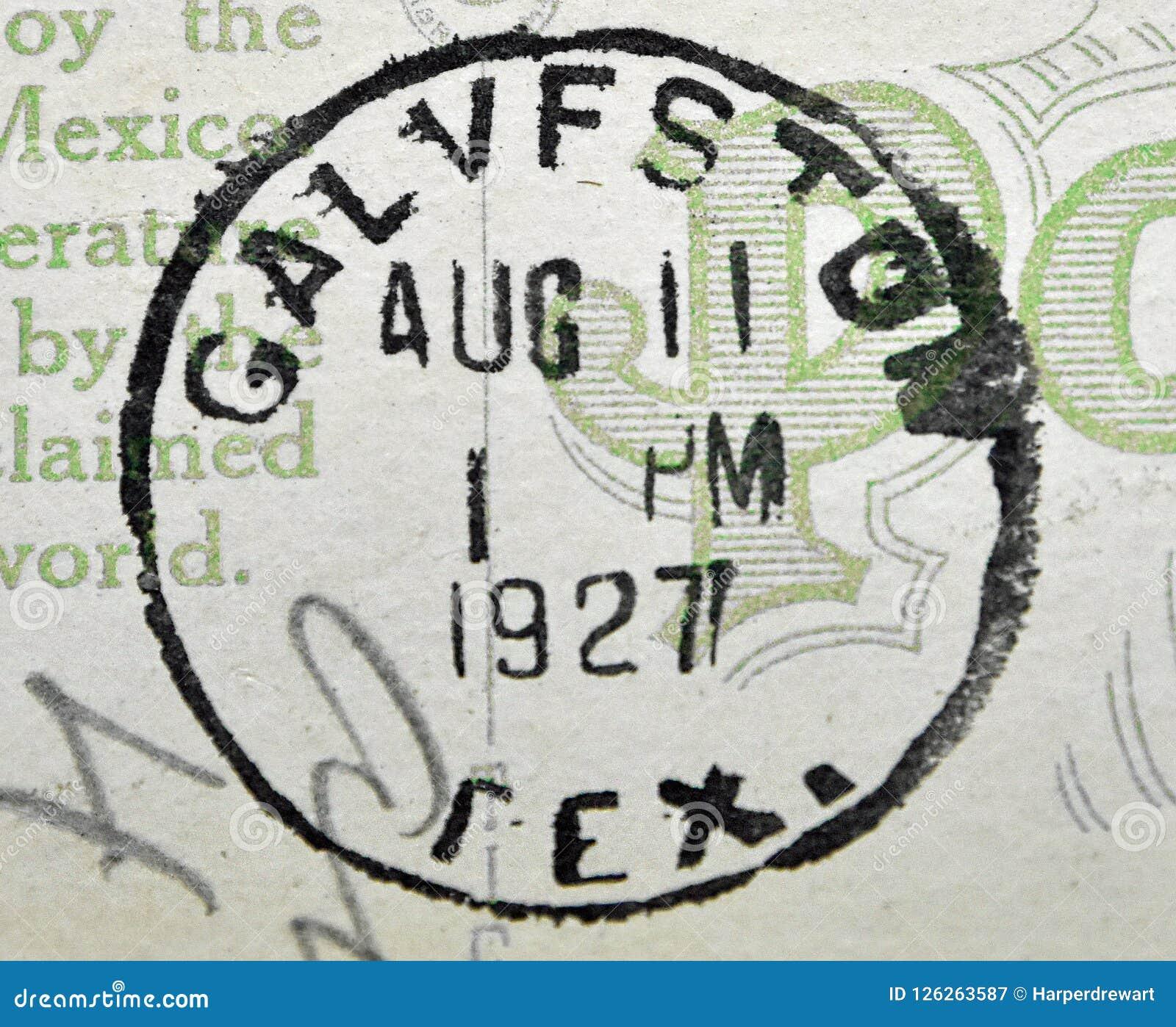Galveston Texas Postmark 1927