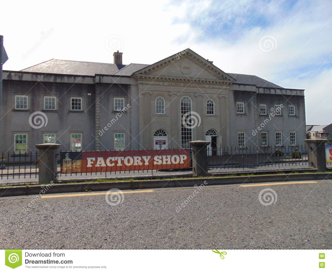 Galway Crystal Building editorial stock image  Image of