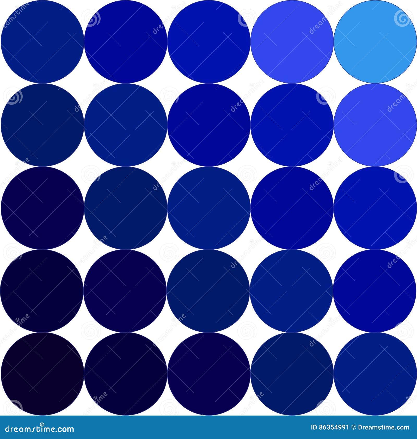 Gama De Colores Azul Stock De Ilustracion Ilustracion De Circulos - Gama-de-azul