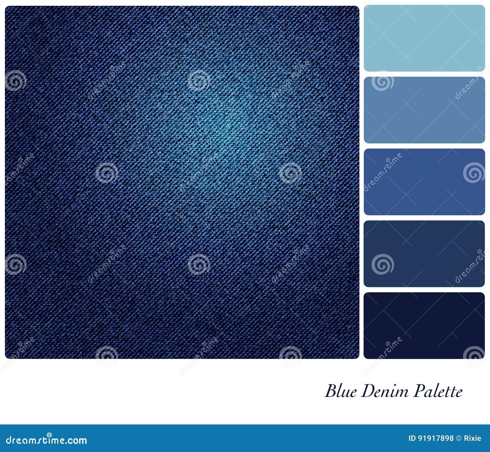 Gama De Colores Azul Del Dril De Algodon Stock De Ilustracion - Gama-de-azul
