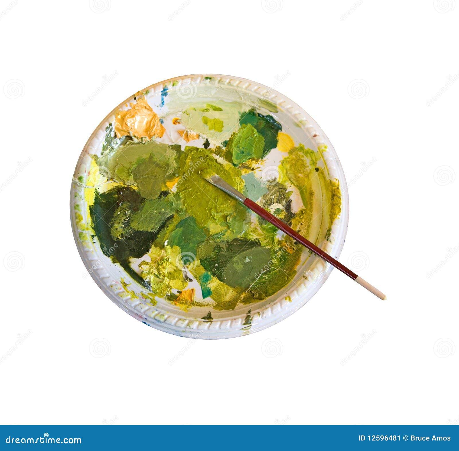 Gama de colores de pinturas verdes imagen de archivo - Gama de colores verdes ...