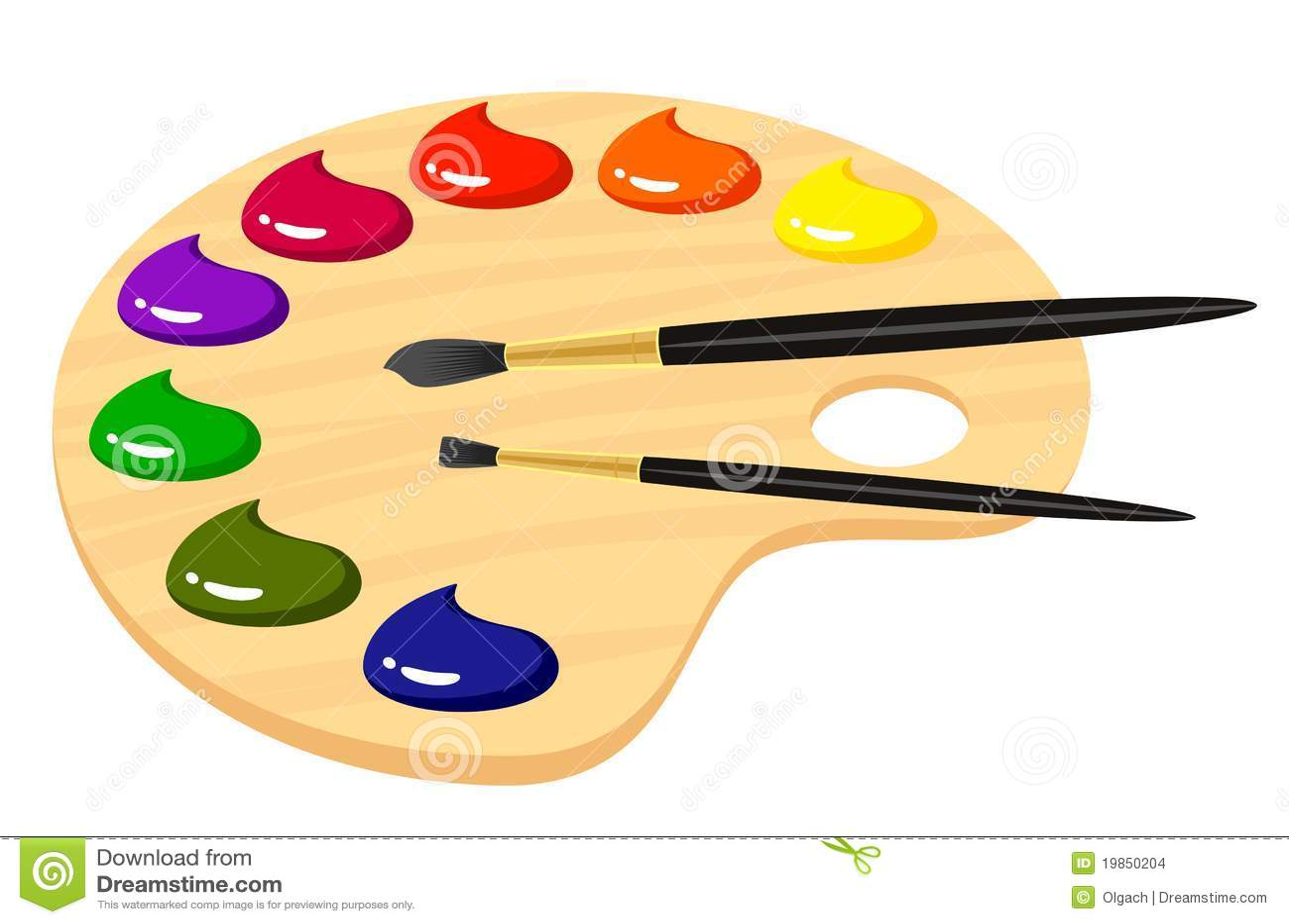 Gama de colores para los artistas con las pinturas - Paleta de pinturas ...
