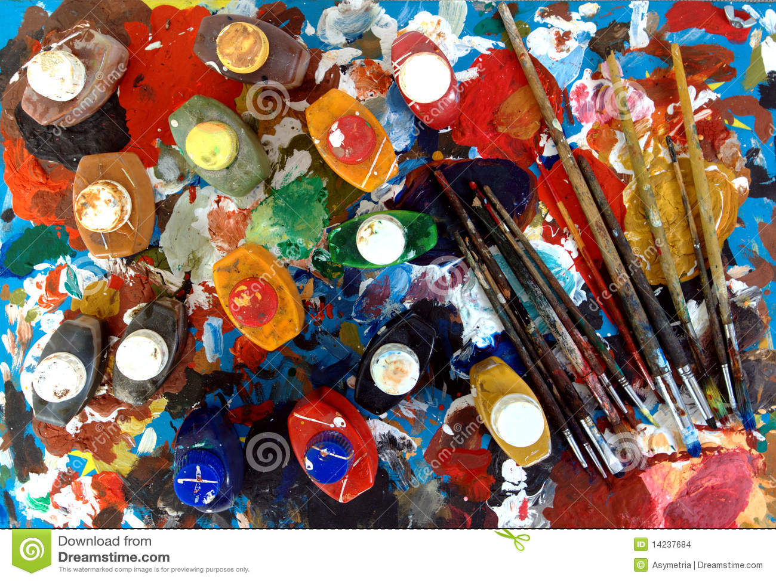 Gama de colores y pinturas de los cepillos stock images - Gama colores pintura ...