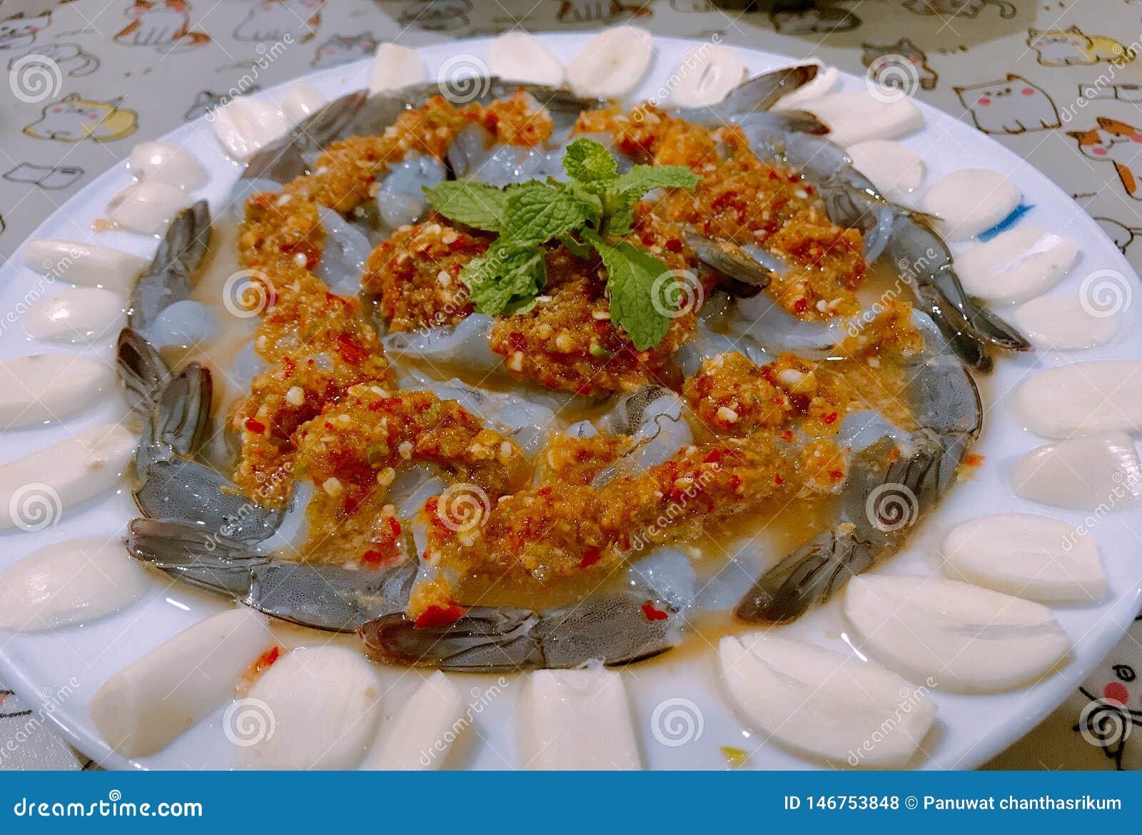 Gambero in salsa di pesci