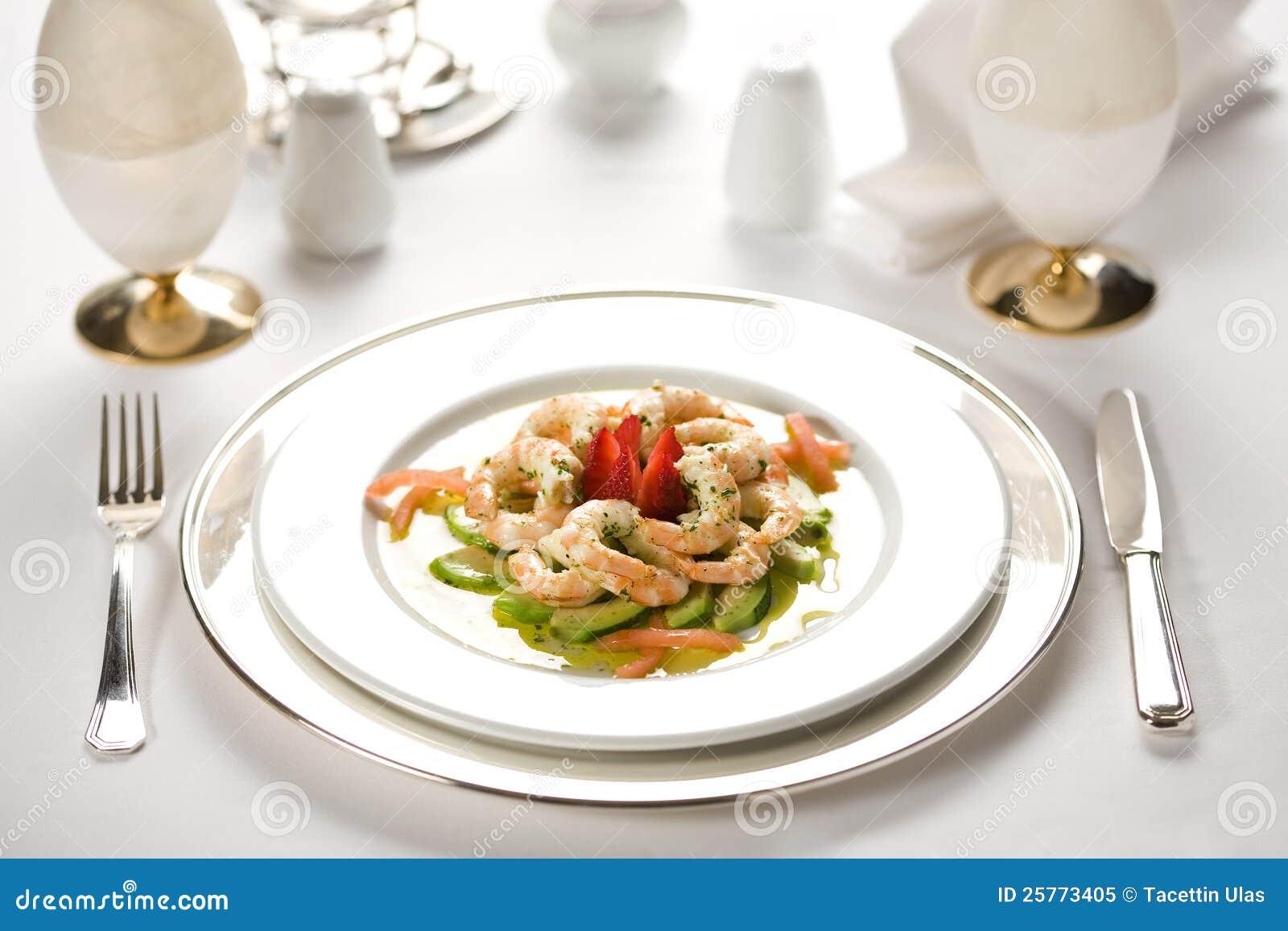 Gambero sul piatto