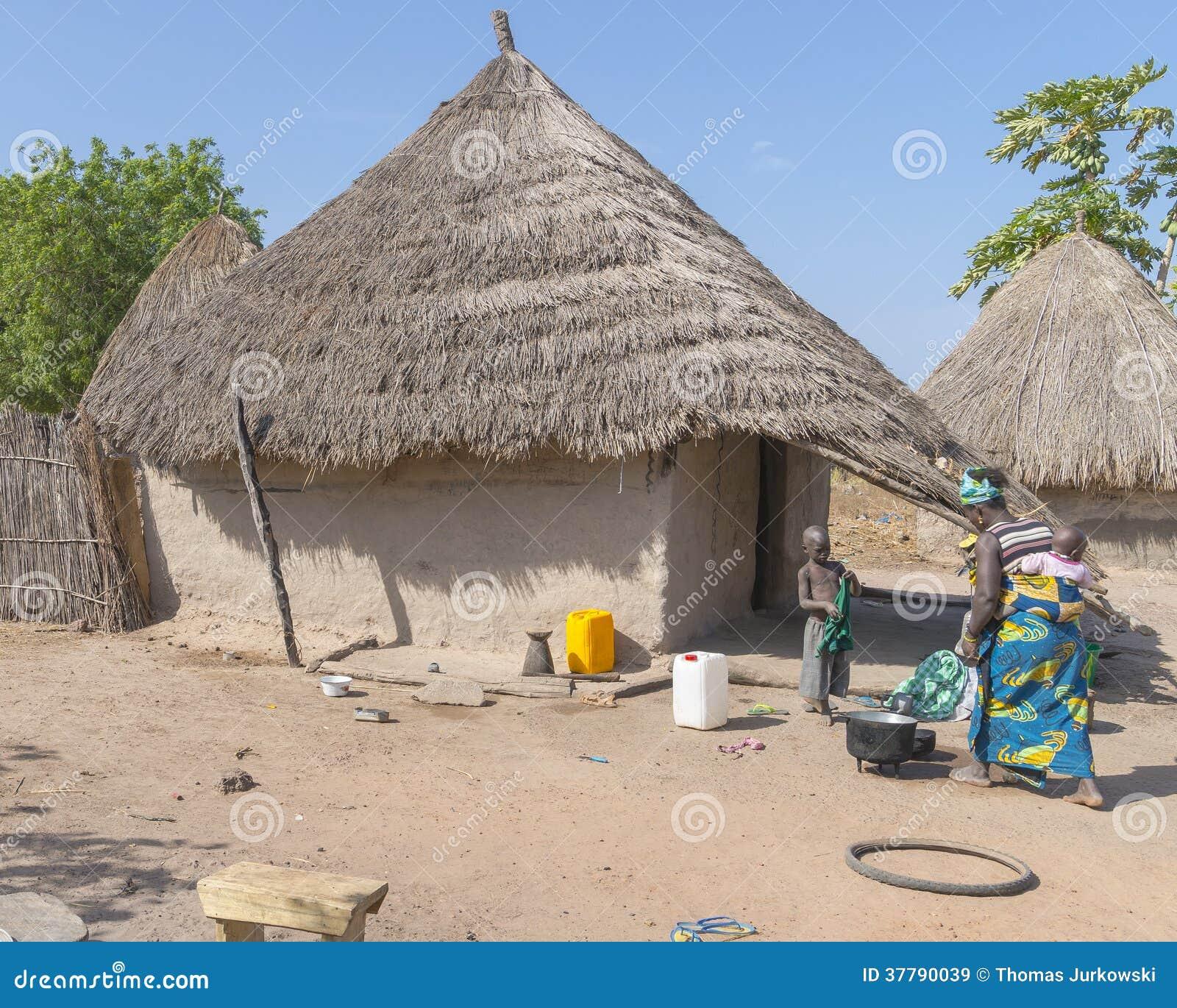 Gambian Village Editorial Stock Image - Image: 37790039  Gambian Village...