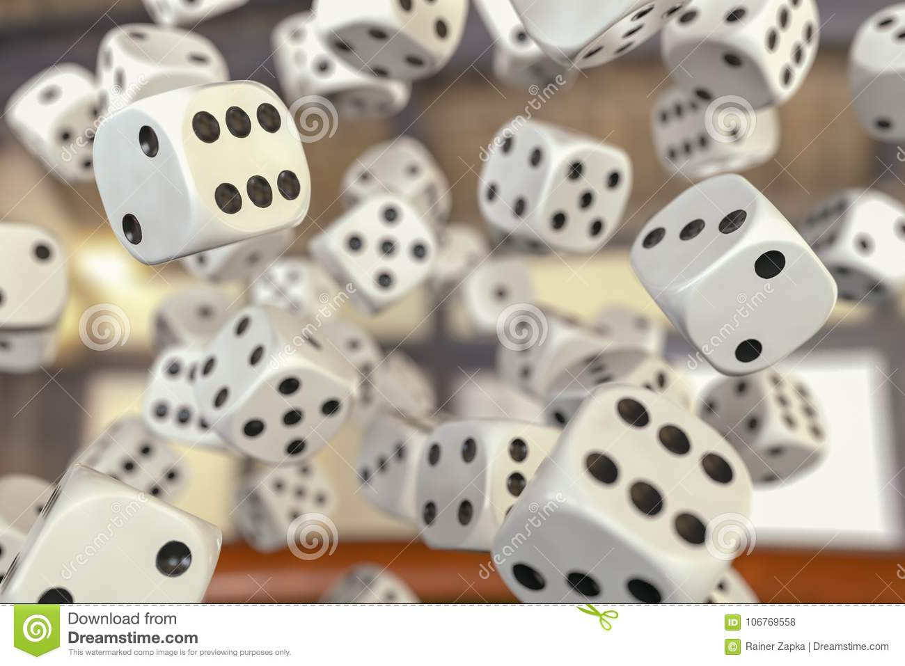 A gamble with many dice