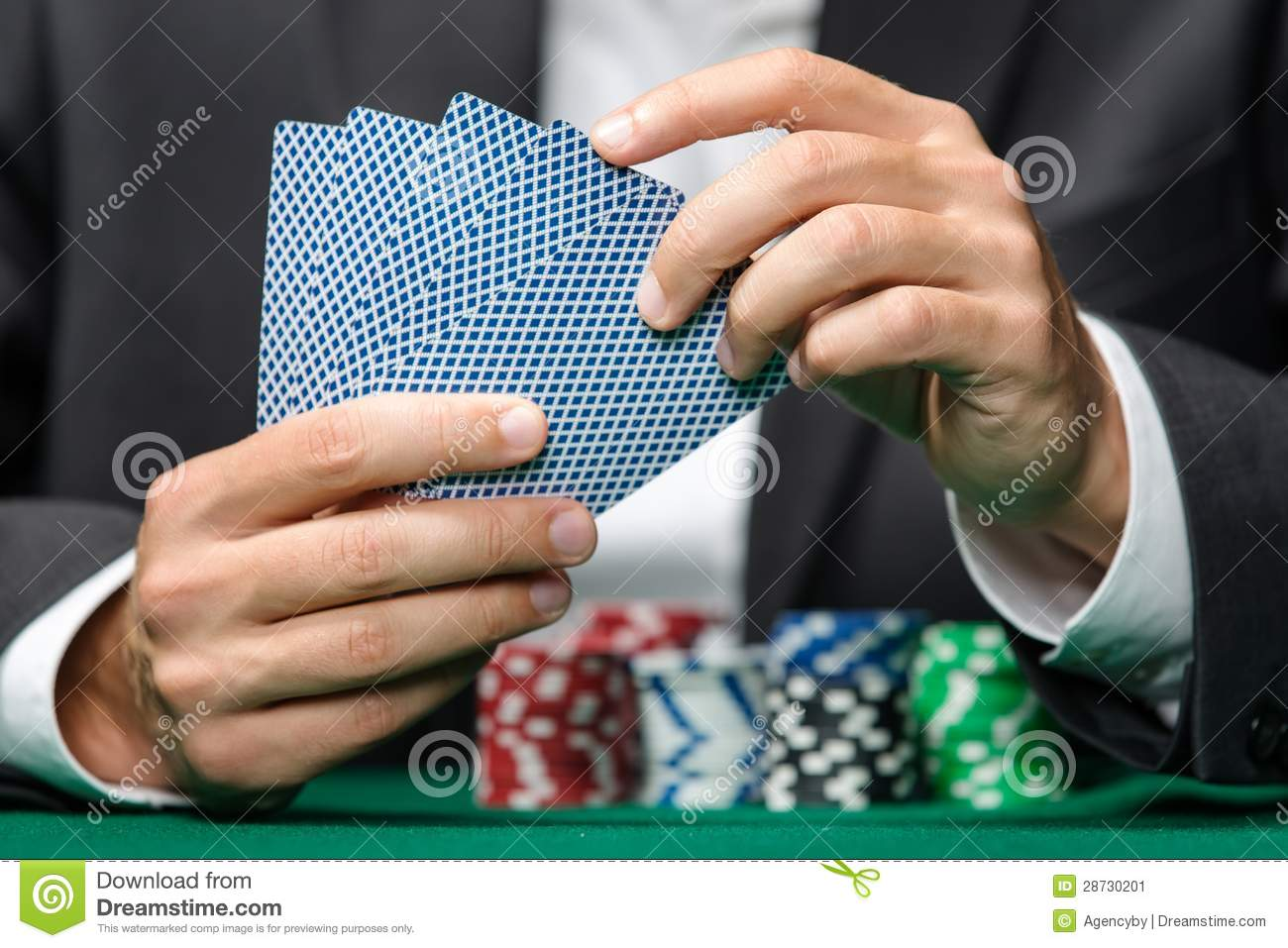 Playing with poker chips