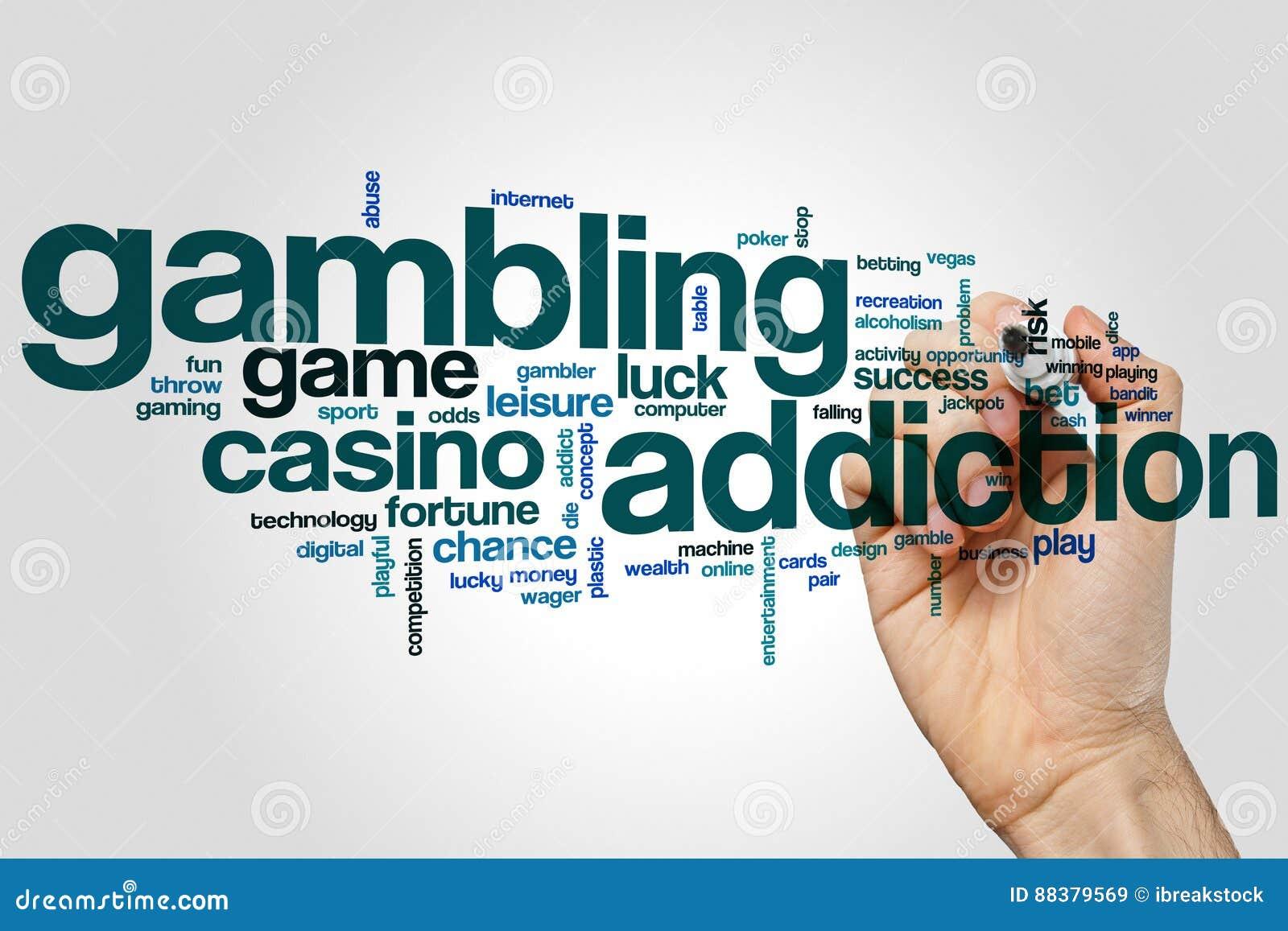 Gambling Addiction Word Cloud Stock Image - Image of luck