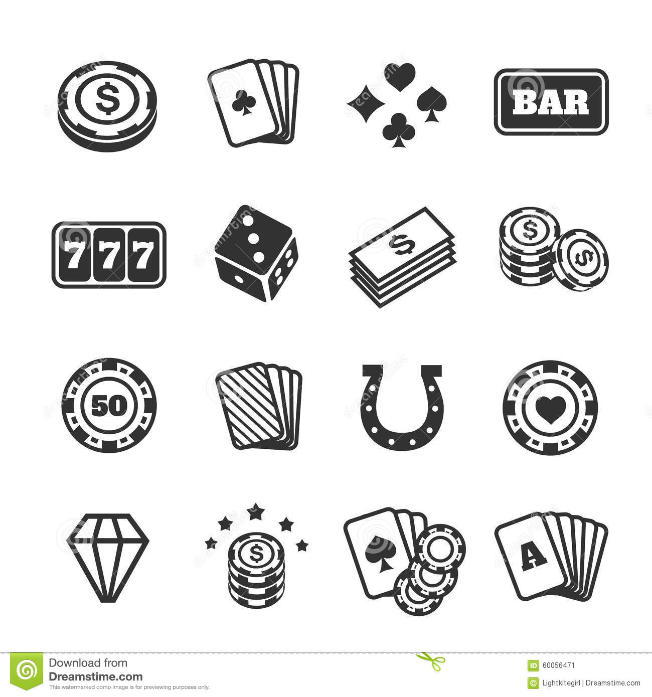 gambling-icons-set-casino-card-poker-gam