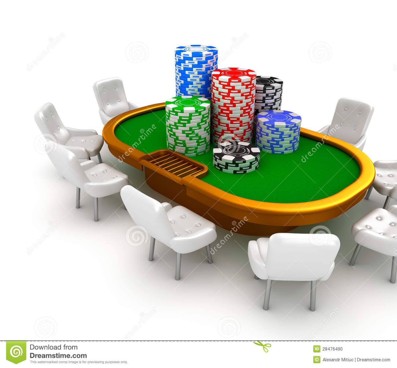 Poker table chairs - Chairs Chips Gambling Poker Table