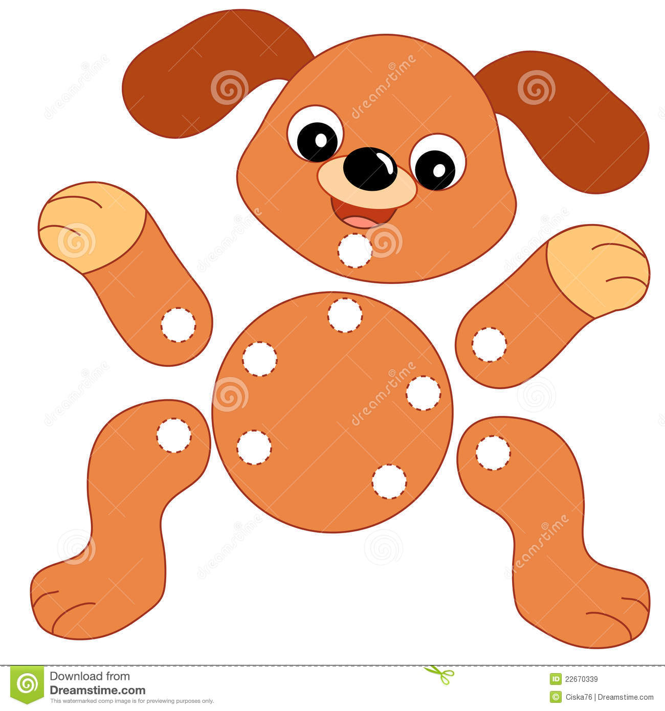 dog to be color and to cut out royalty free stock photo image