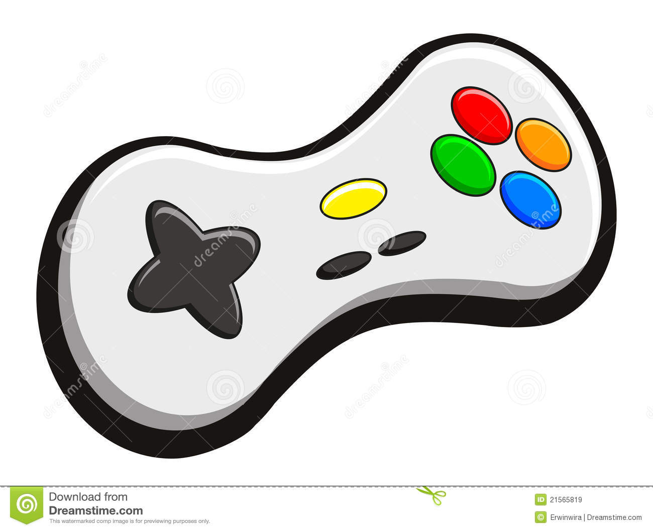 Video Game Controller Icon Illustration of video game