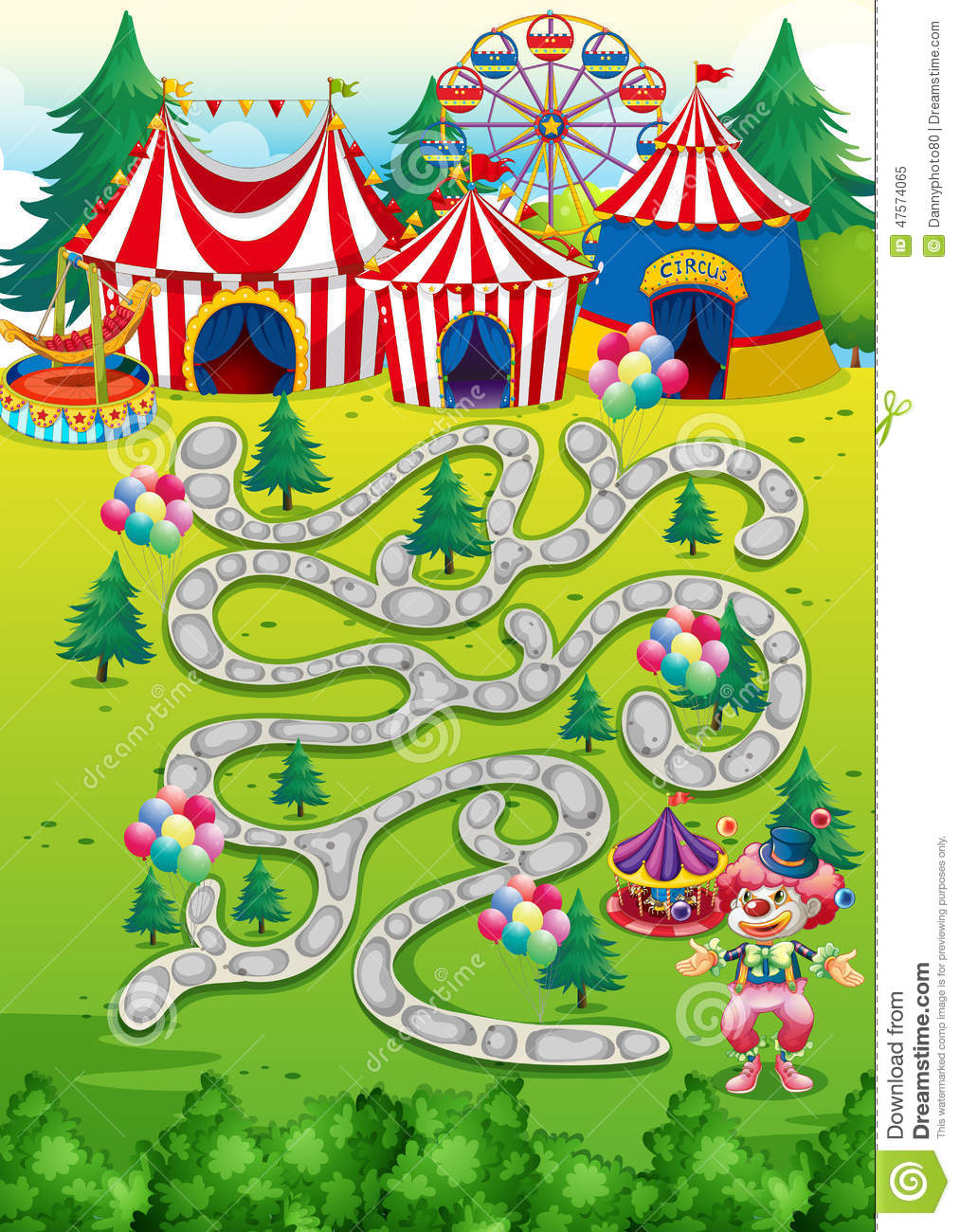 Game stock vector  Illustration of amusement, park, drawing