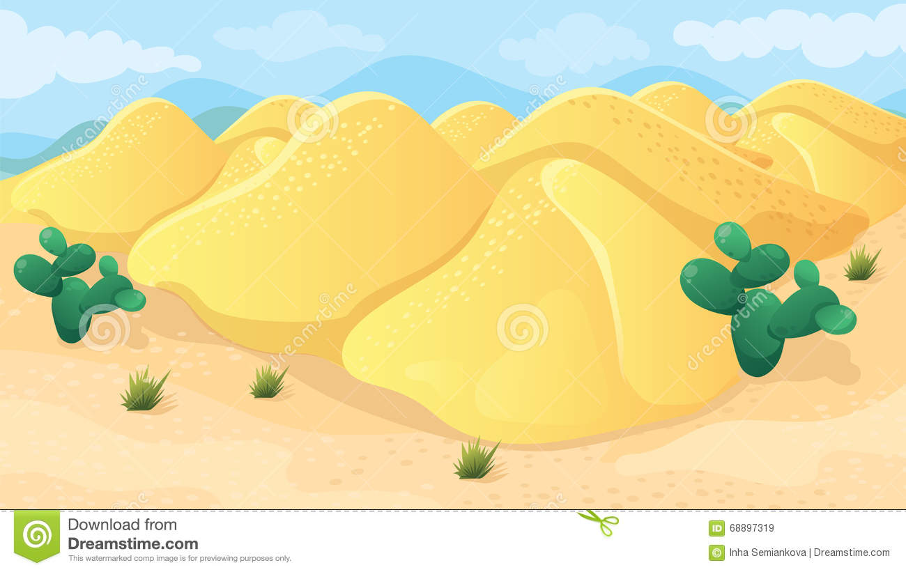 Game Background Of Desert