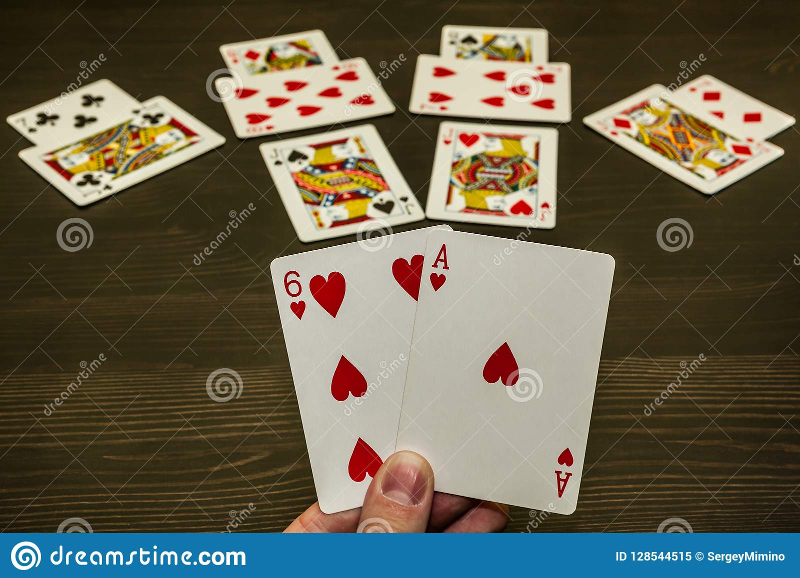 A Game Of Cards Two Trumps In The Hand A Winning Game Stock Image