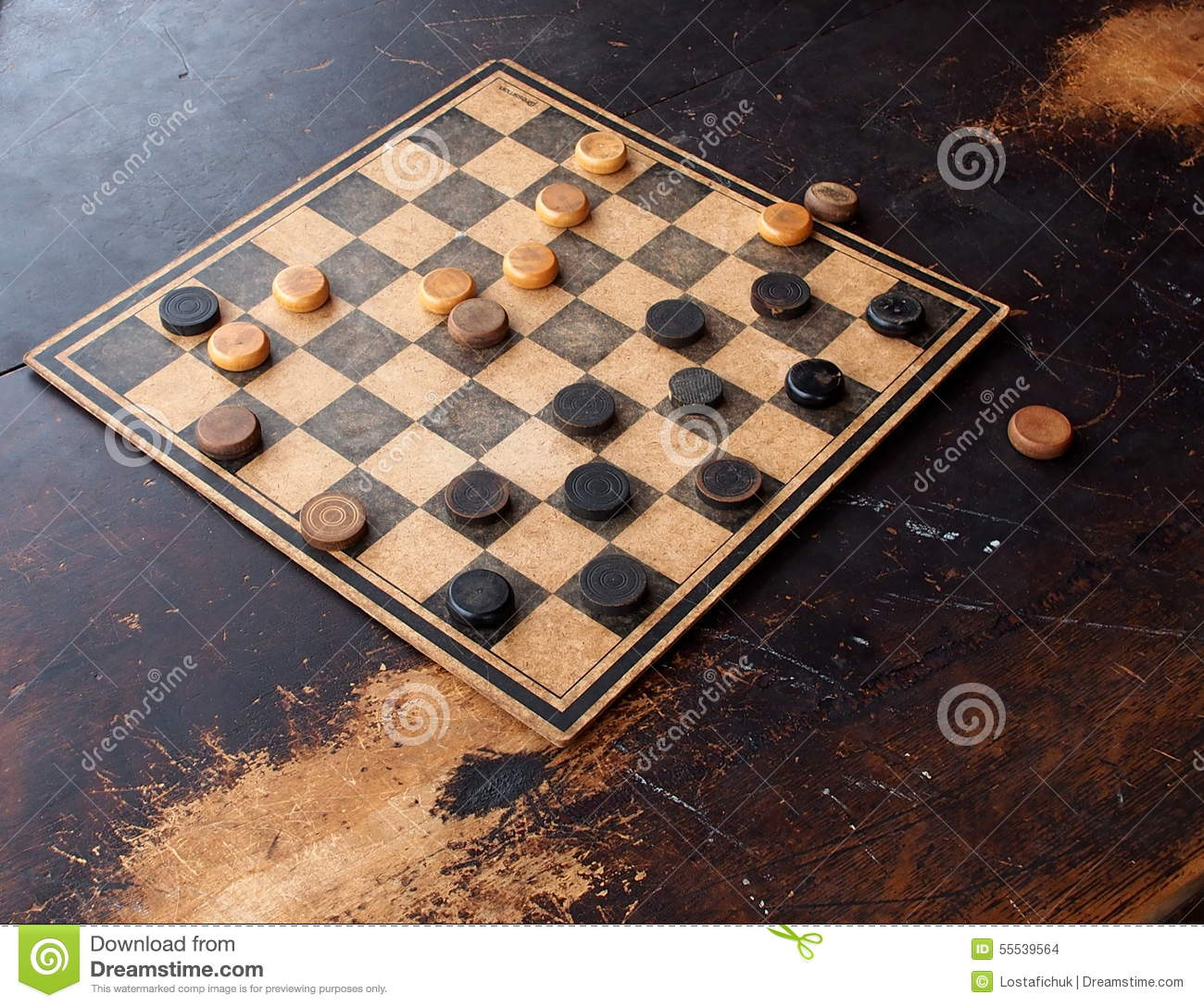 Game Of Checkers Stock Photo Image Of Checkers Wooden 55539564
