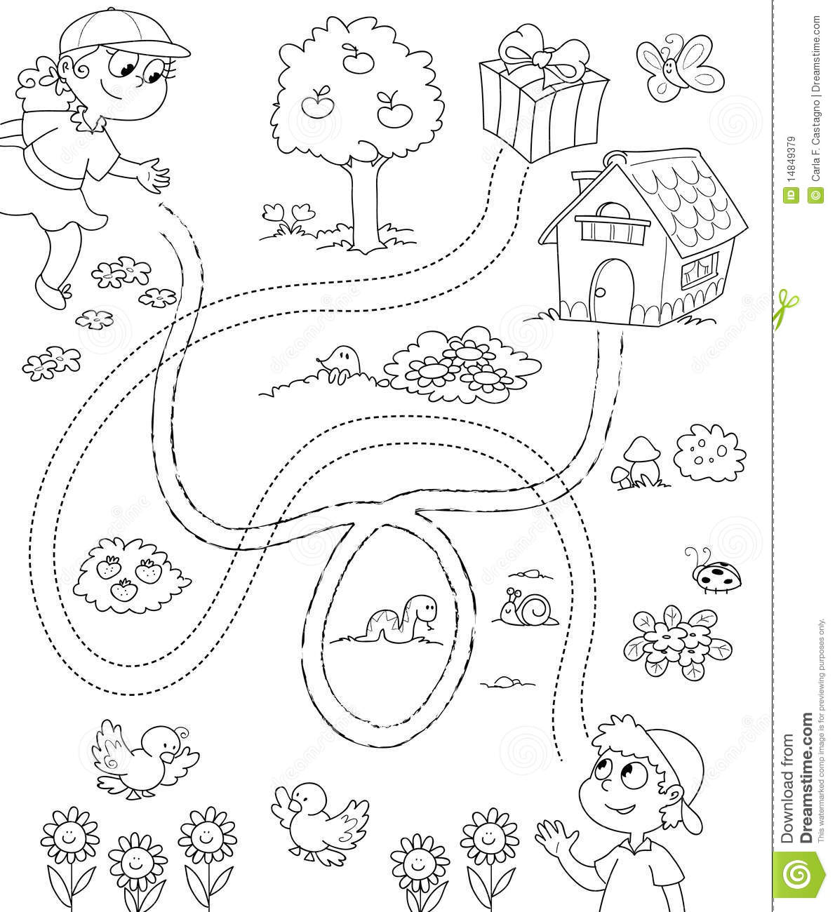 Coloring Game for children stock vector. Illustration of ...