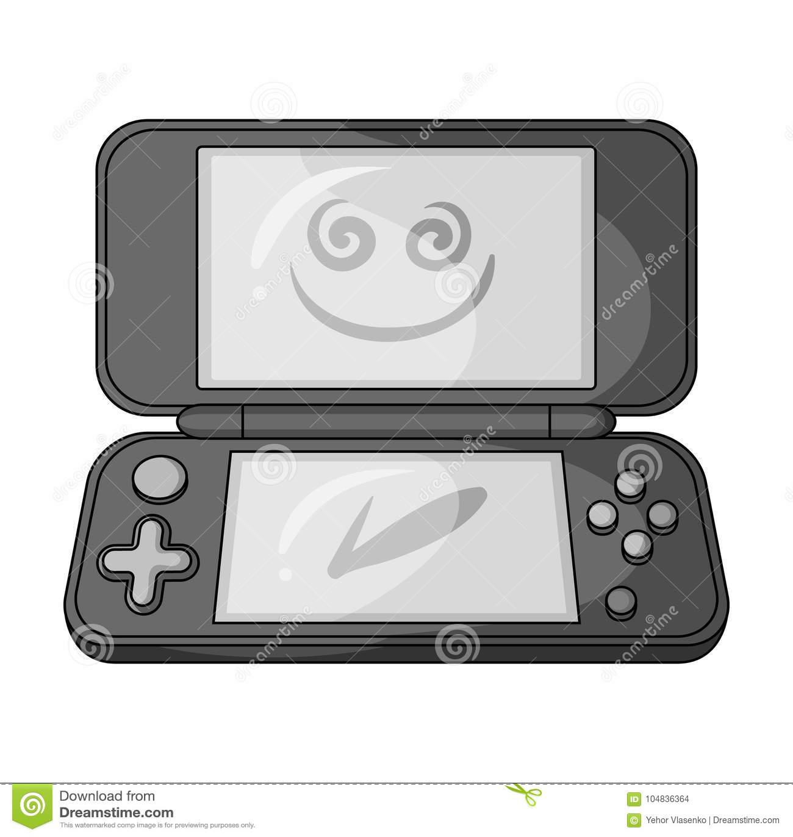 Game Console Single Icon In Monochrome Style For Designr
