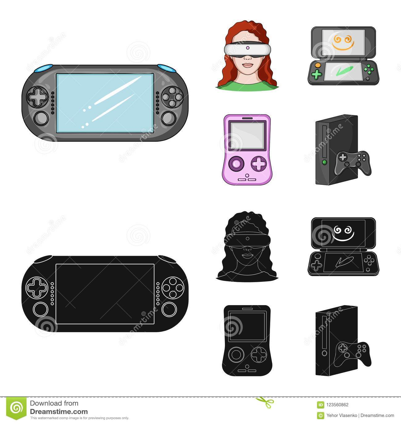 28359b170dae Game Console And Virtual Reality Cartoon