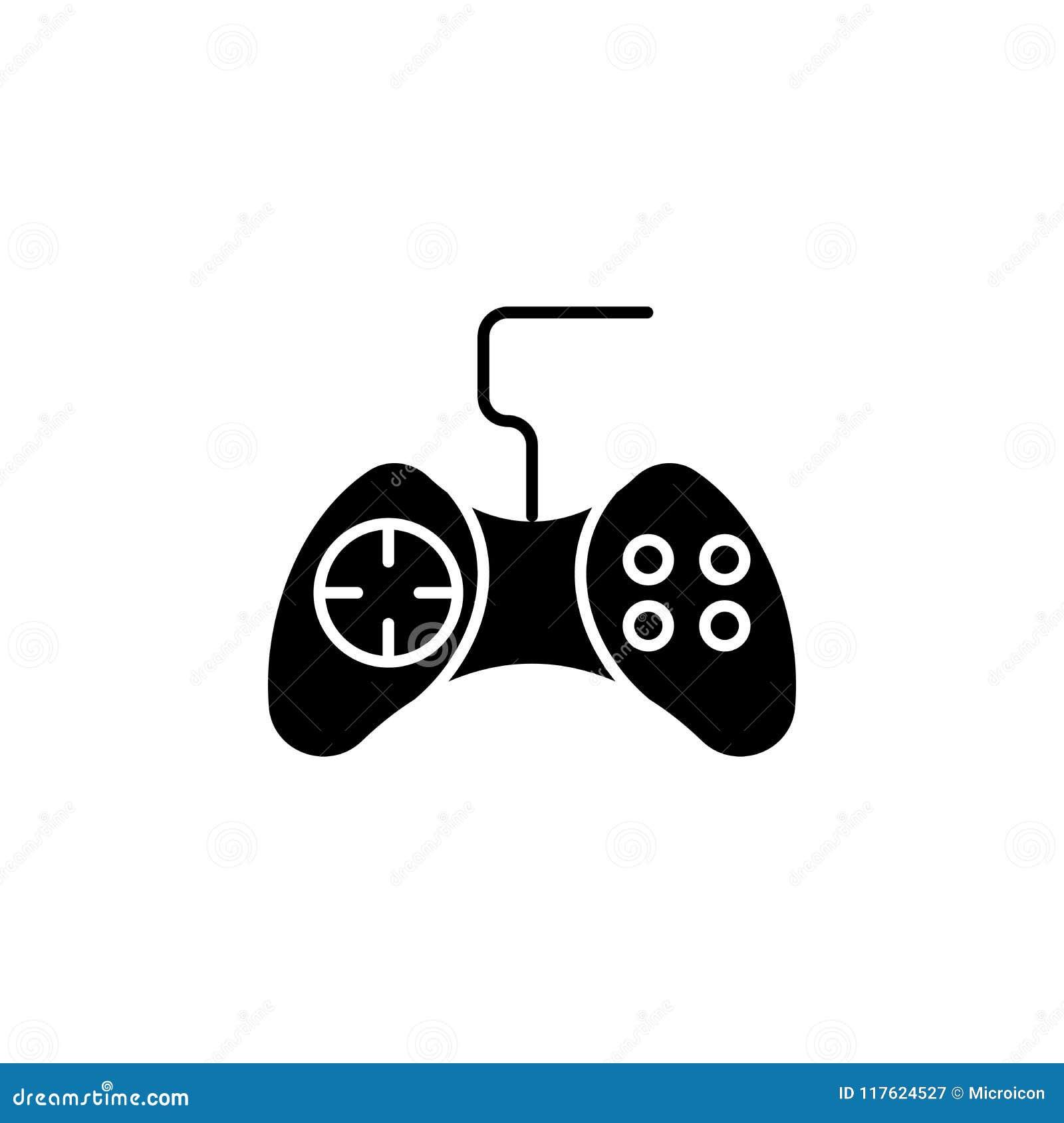 Game Controller Black Icon Concept Game Controller Flat Vector