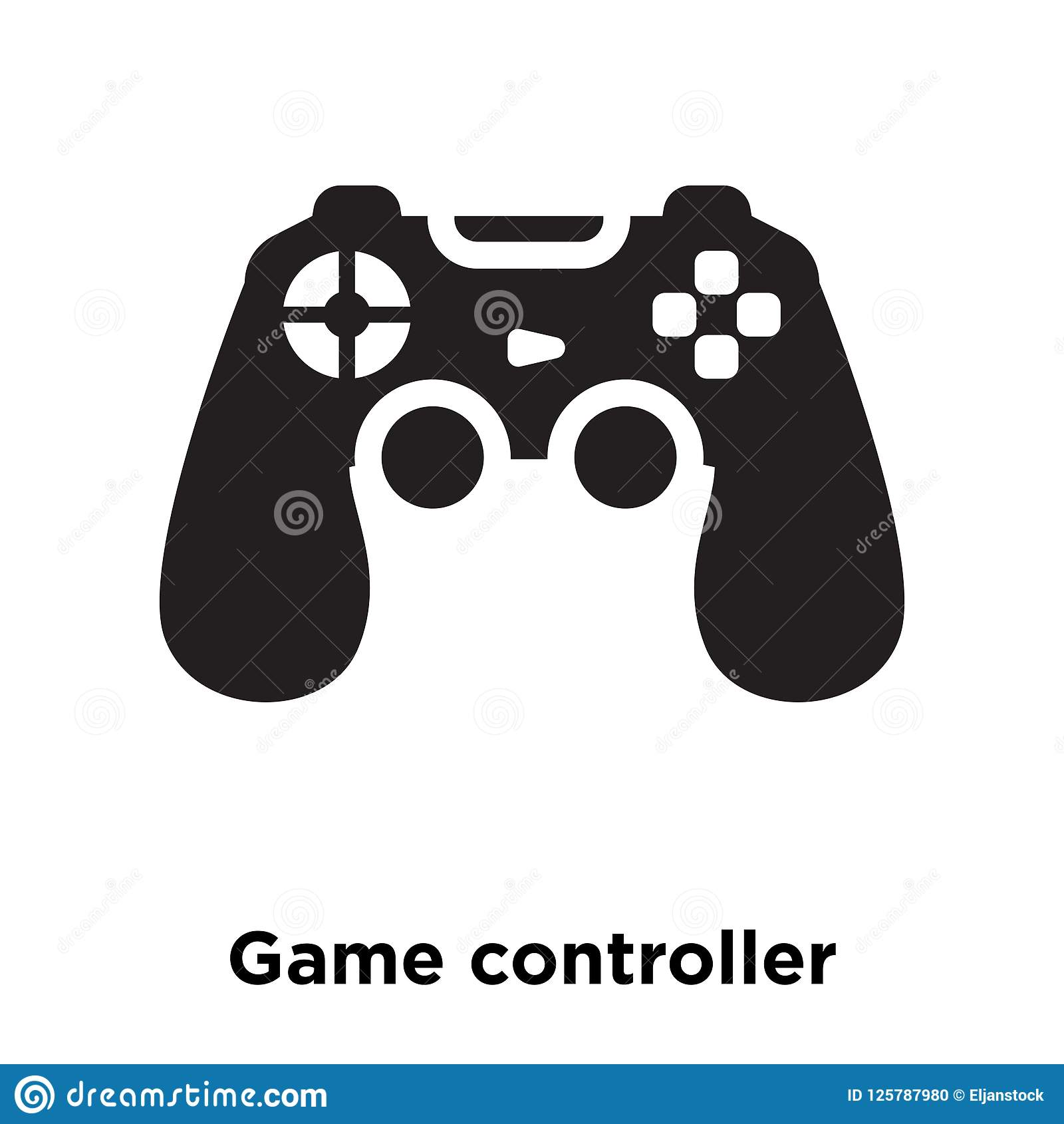 Game Controller Icon Vector Isolated On White Background Logo C