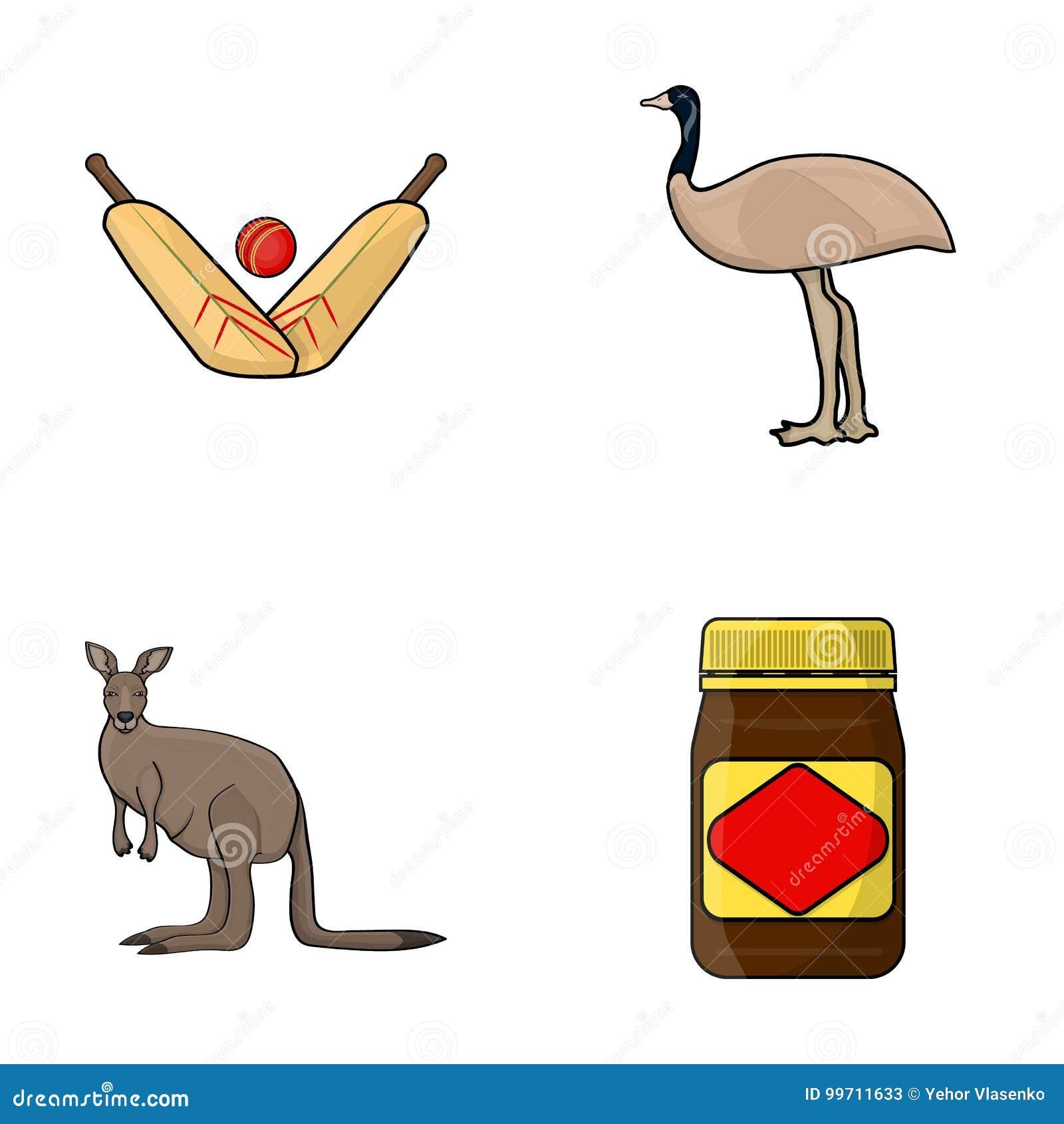 a game of cricket an emu ostrich a kangaroo a popular food rh dreamstime com Crickets Chirping Quiet Crickets Cartoon