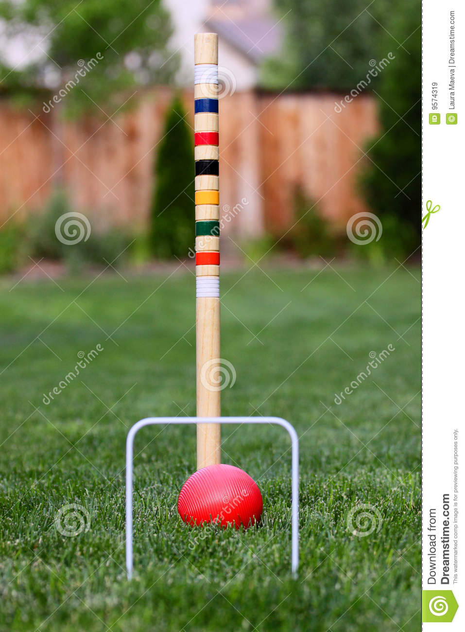 Croquet Game : Game Of Croquet In Back Yard Royalty Free Stock Images - Image ...