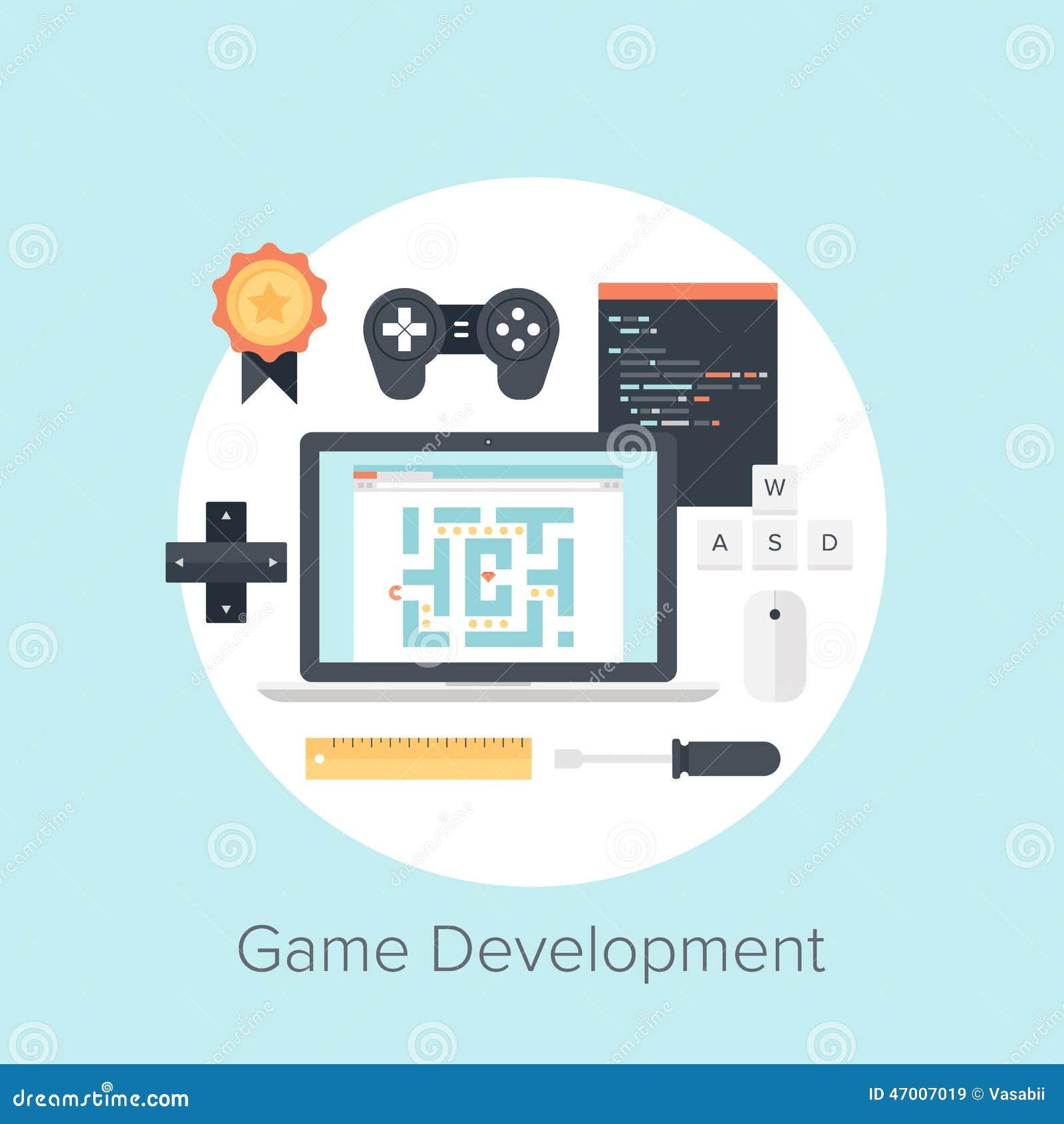 Game Development Stock Vector Illustration Of Design - Game design download